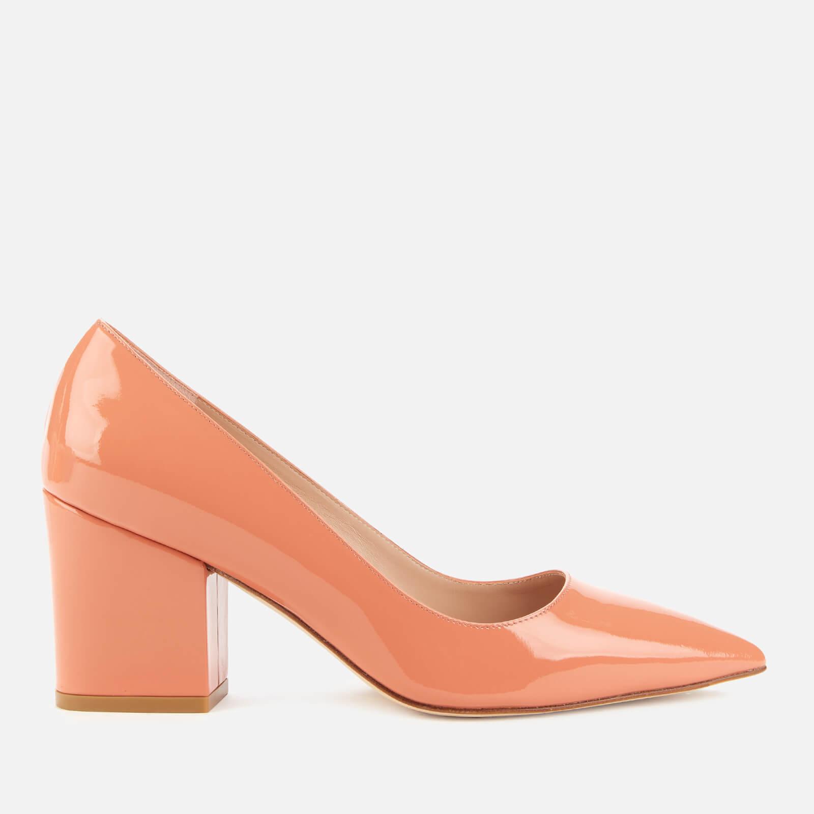 Stuart Weitzman Women's Luna 75 Patent Block Heeled Court Shoes - Petal - Uk 3