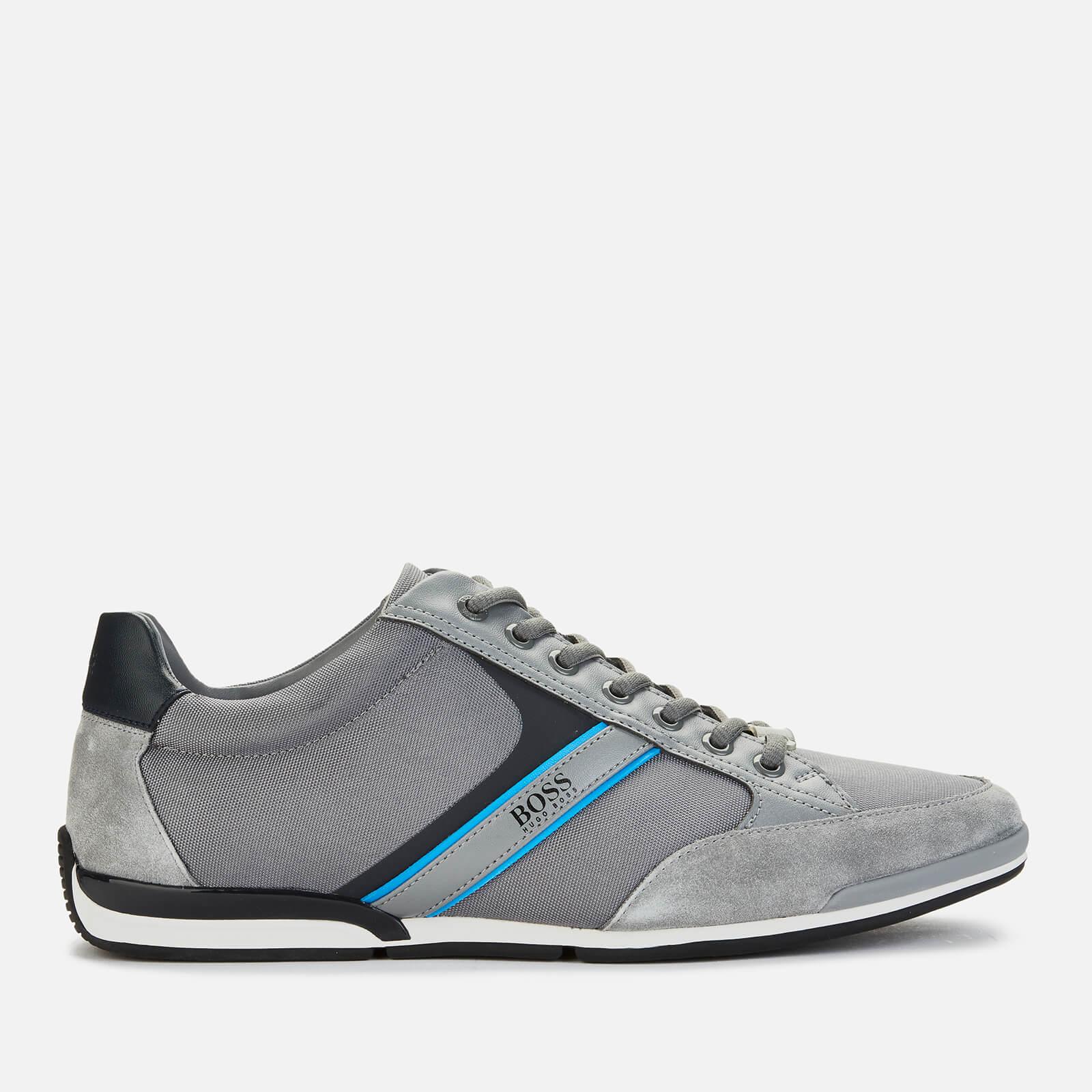 BOSS Athleisure Men's Saturn Low Trainers - Medium Grey - UK 9