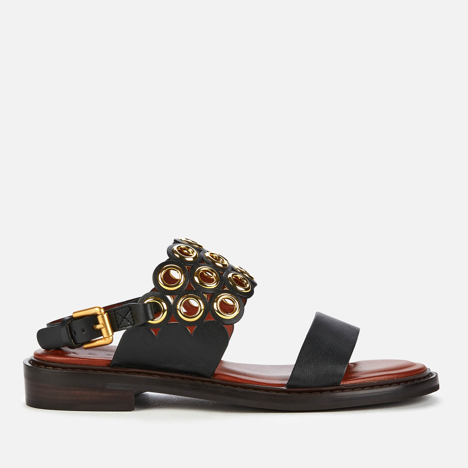 See By Chloé Women's Steffi Leather Flat Sandals - Black - UK 6