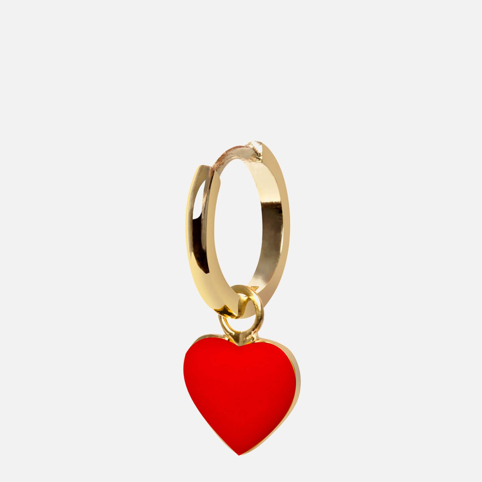 Wilhelmina Garcia Women's Heart Earring - Gold