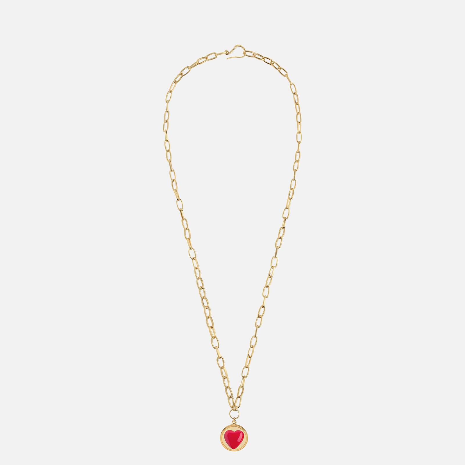 Wilhelmina Garcia Women's Heart Necklace - Gold