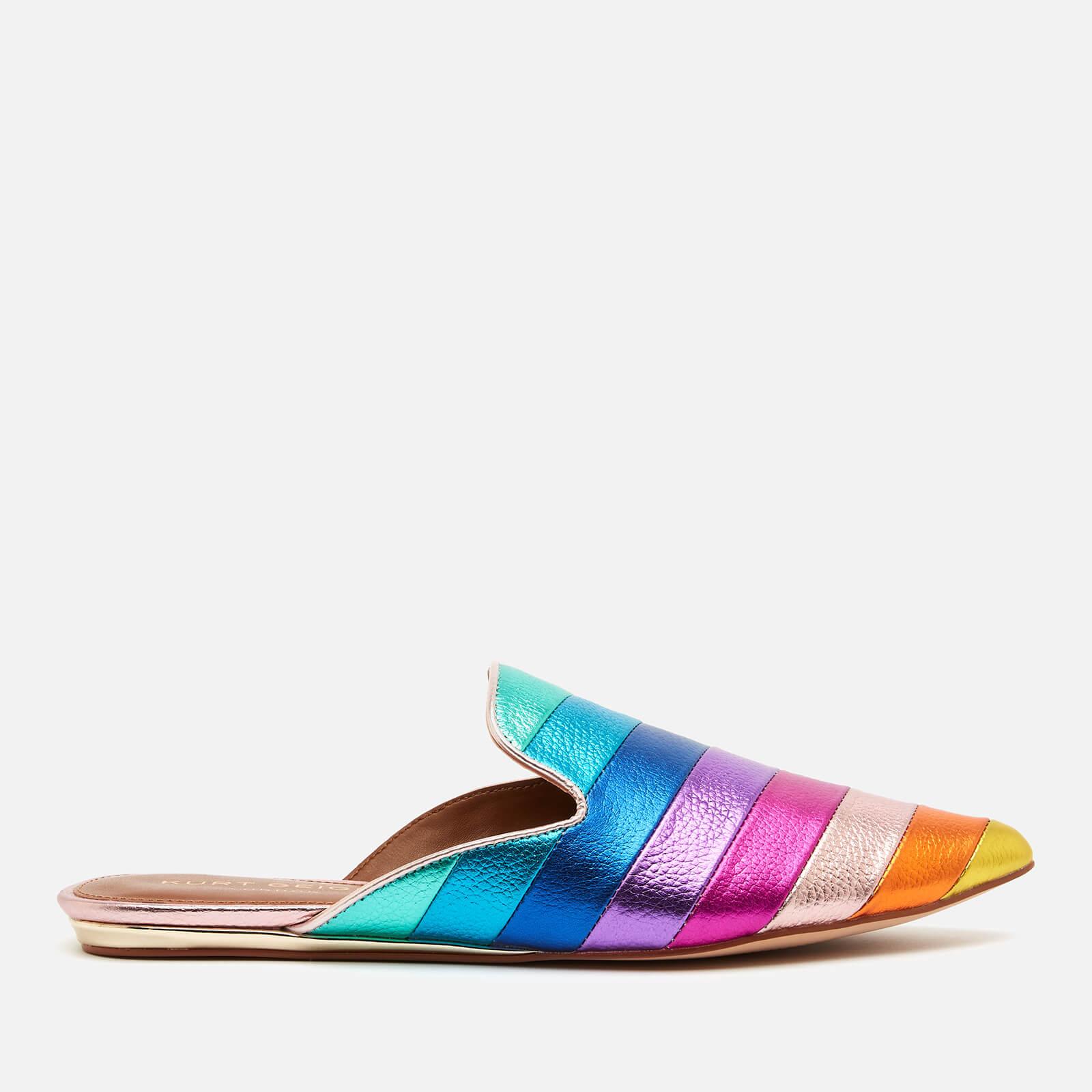 Kurt Geiger London Women's Kita Rainbow Leather Slide Espadrilles - Multi - UK 3