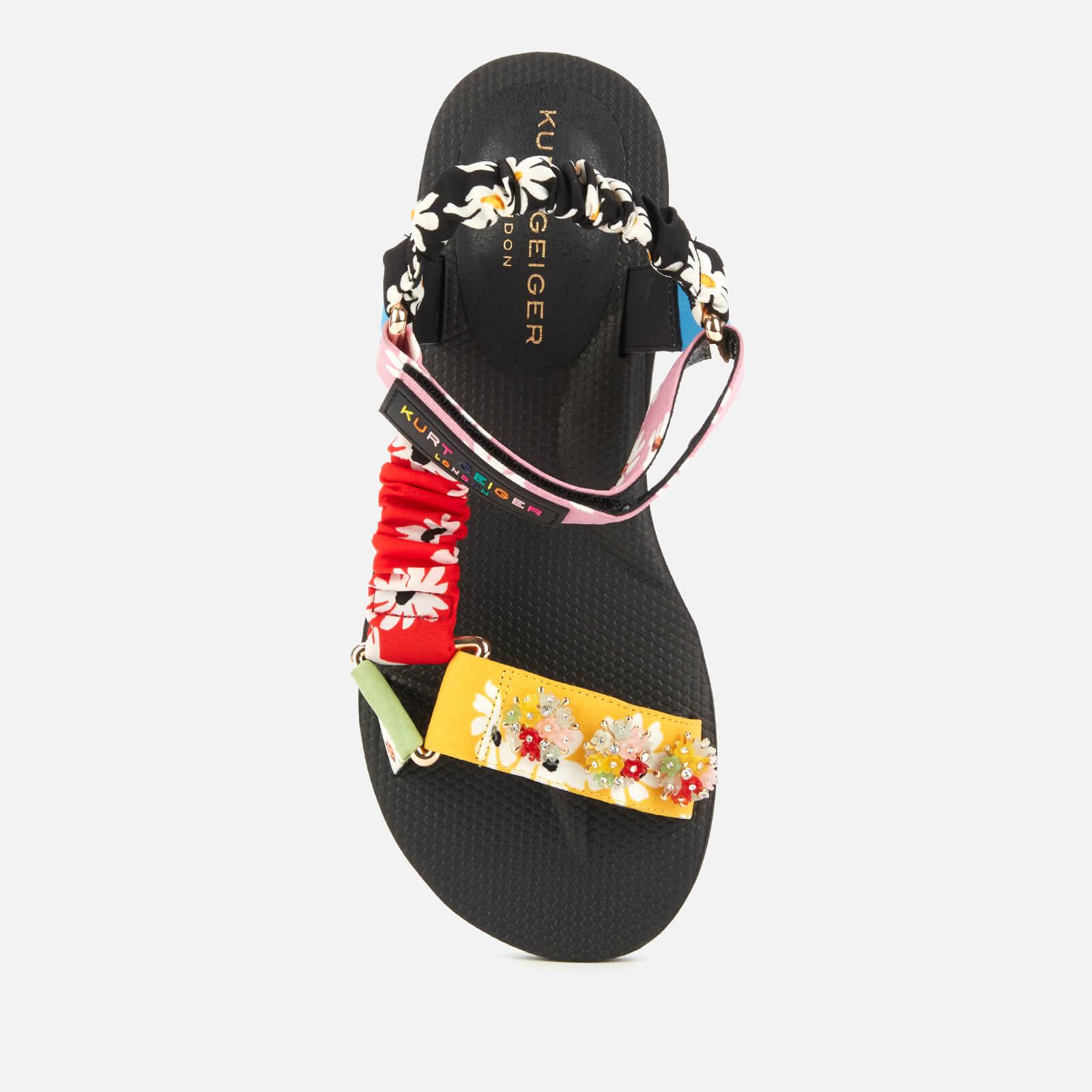 kurt geiger london women's orion trek sandals - multi - uk 5