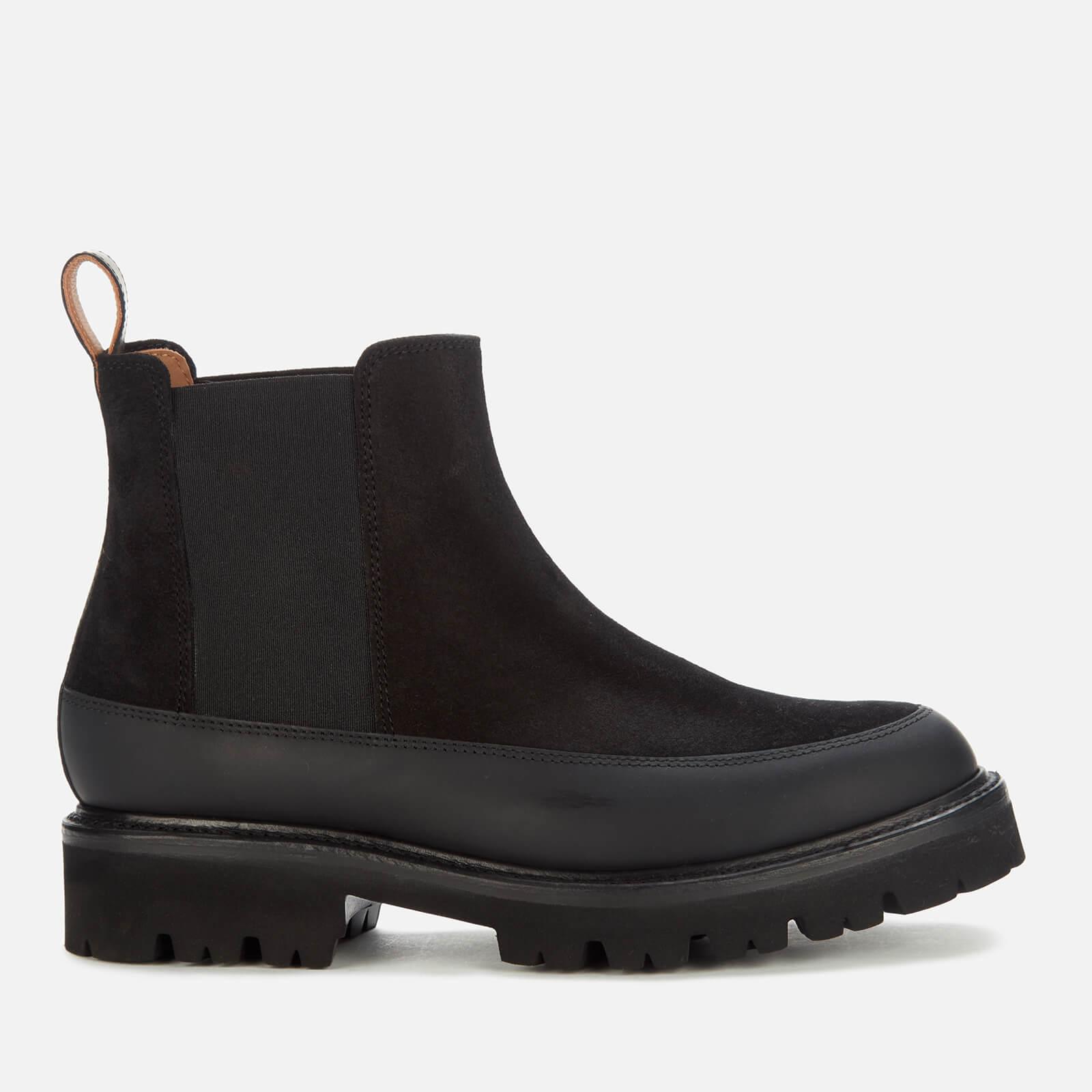 Grenson Women's Abbie Suede/Rubber Chelsea Boots - Black - Uk 3
