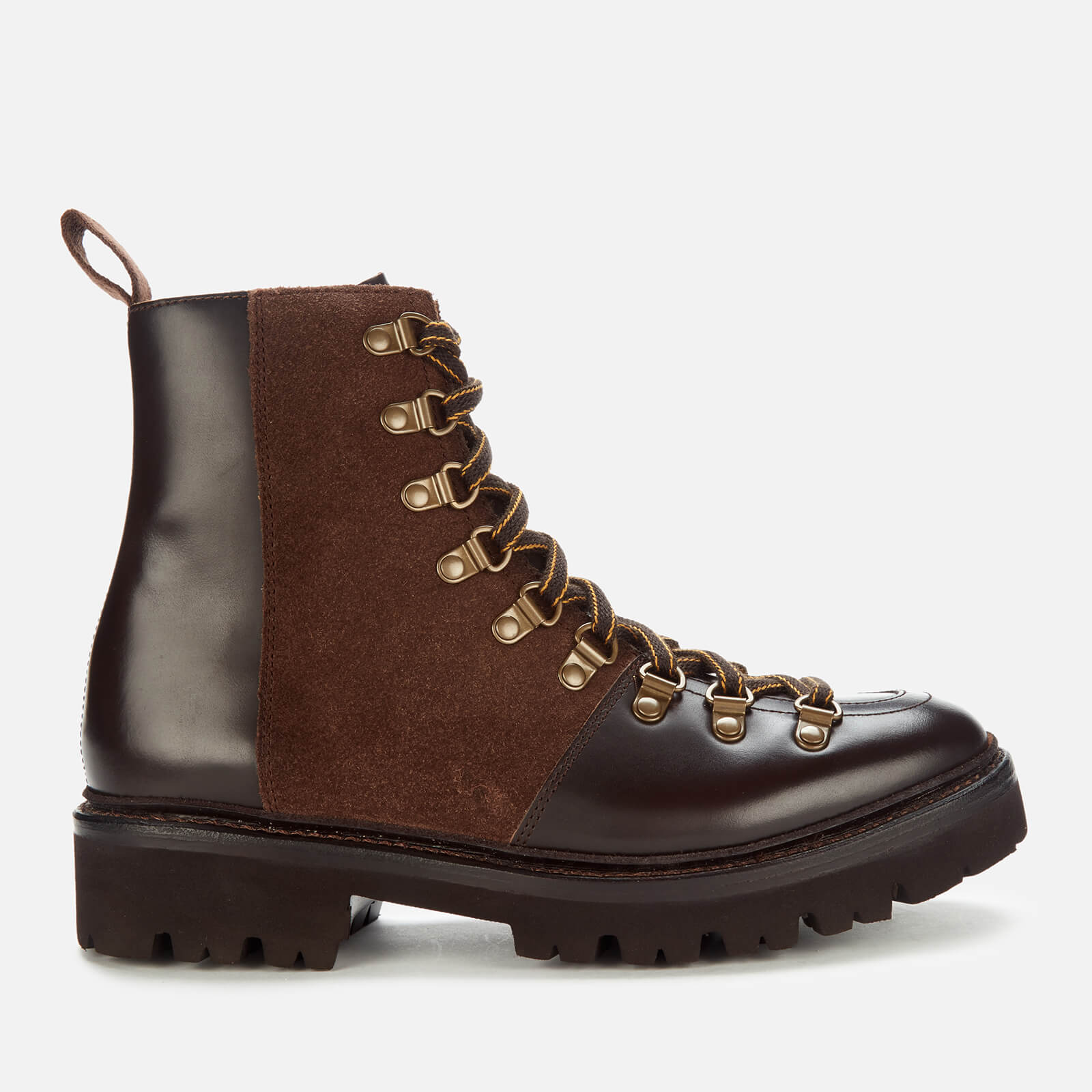 Grenson Women's Nanette Leather Hiking Style Boots - Dark Brown - Uk 3