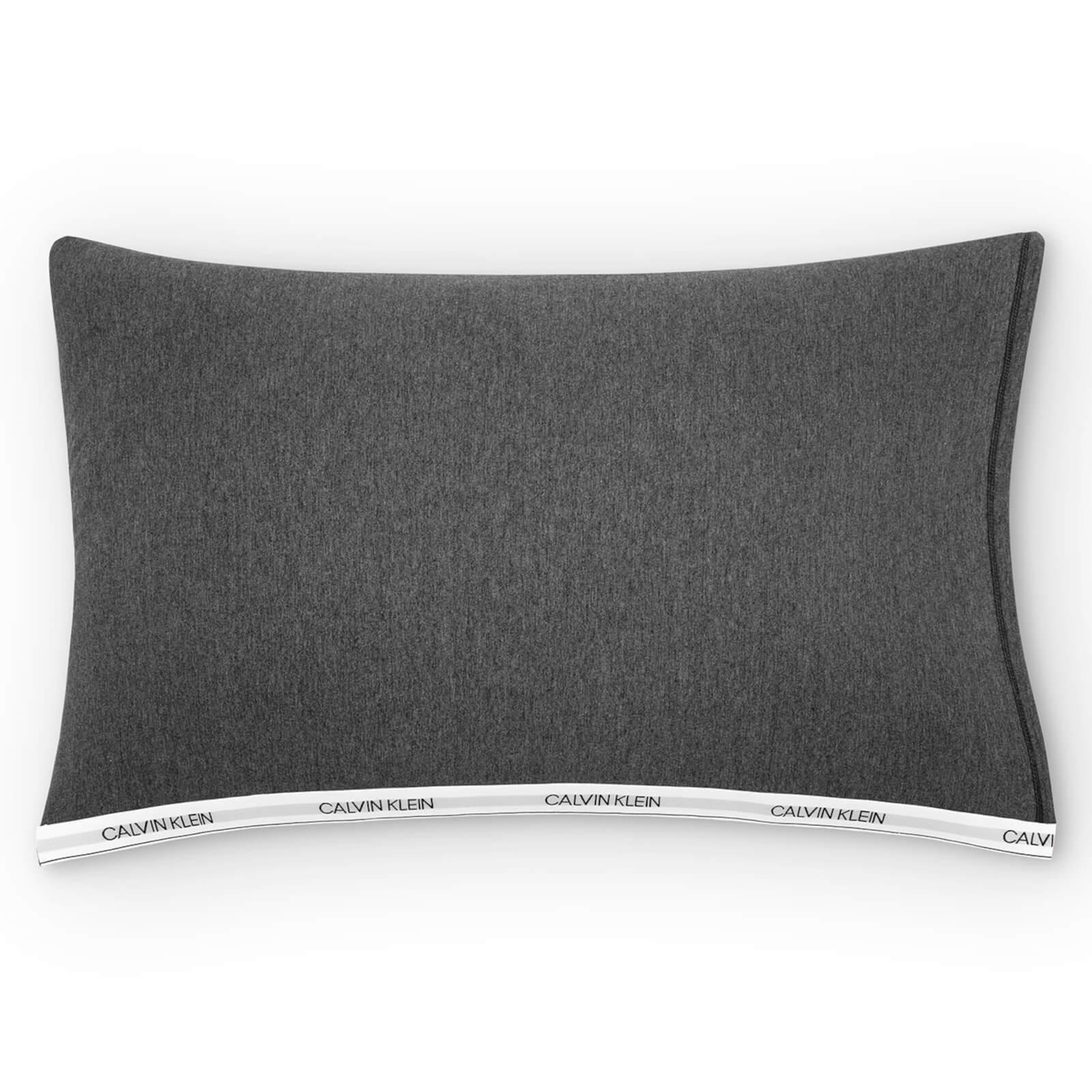 Calvin Klein Modern Cotton Classic Logo Duvet Cover - Charcoal - Pillowcase Pair