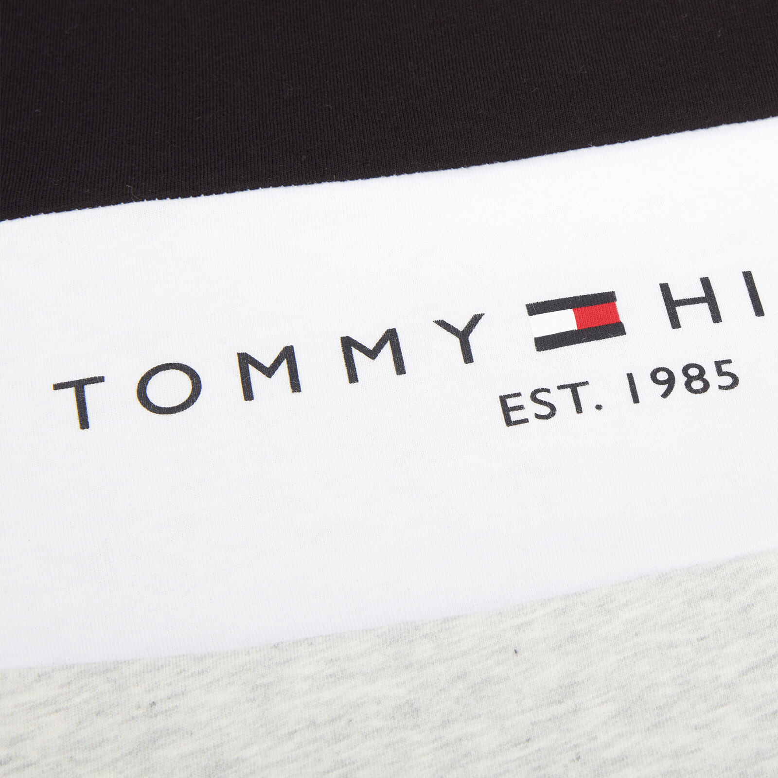 tommy hilfiger boys' essential colorblock t-shirt - light grey heather - 6 years