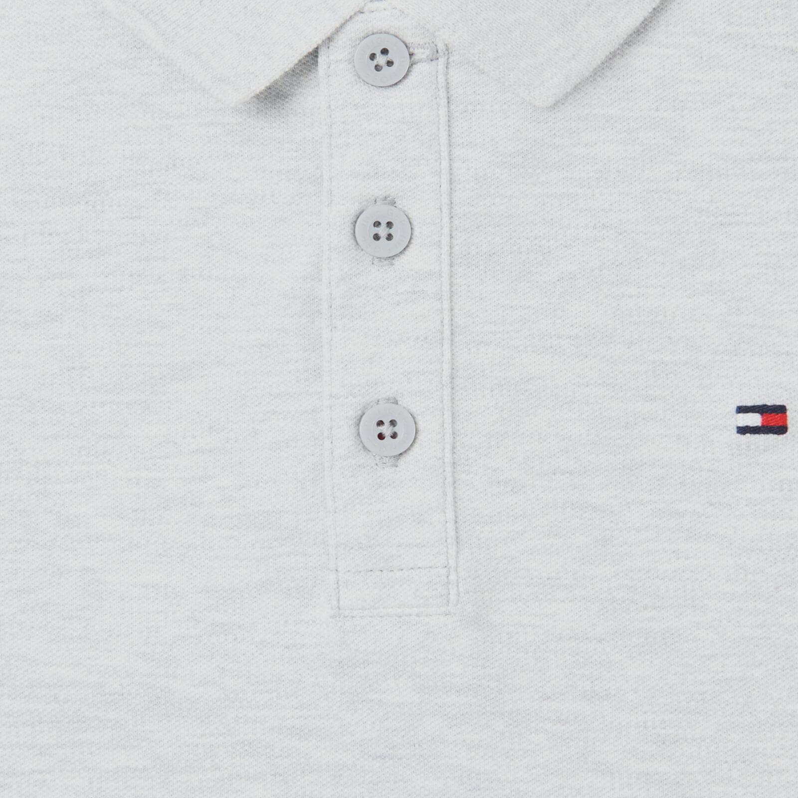 Tommy Hilfiger Boys' Slim Fit Polo-shirt - Light Grey Heather - 8 Years Kb0kb06538pz1 Childrens Clothing, Grey