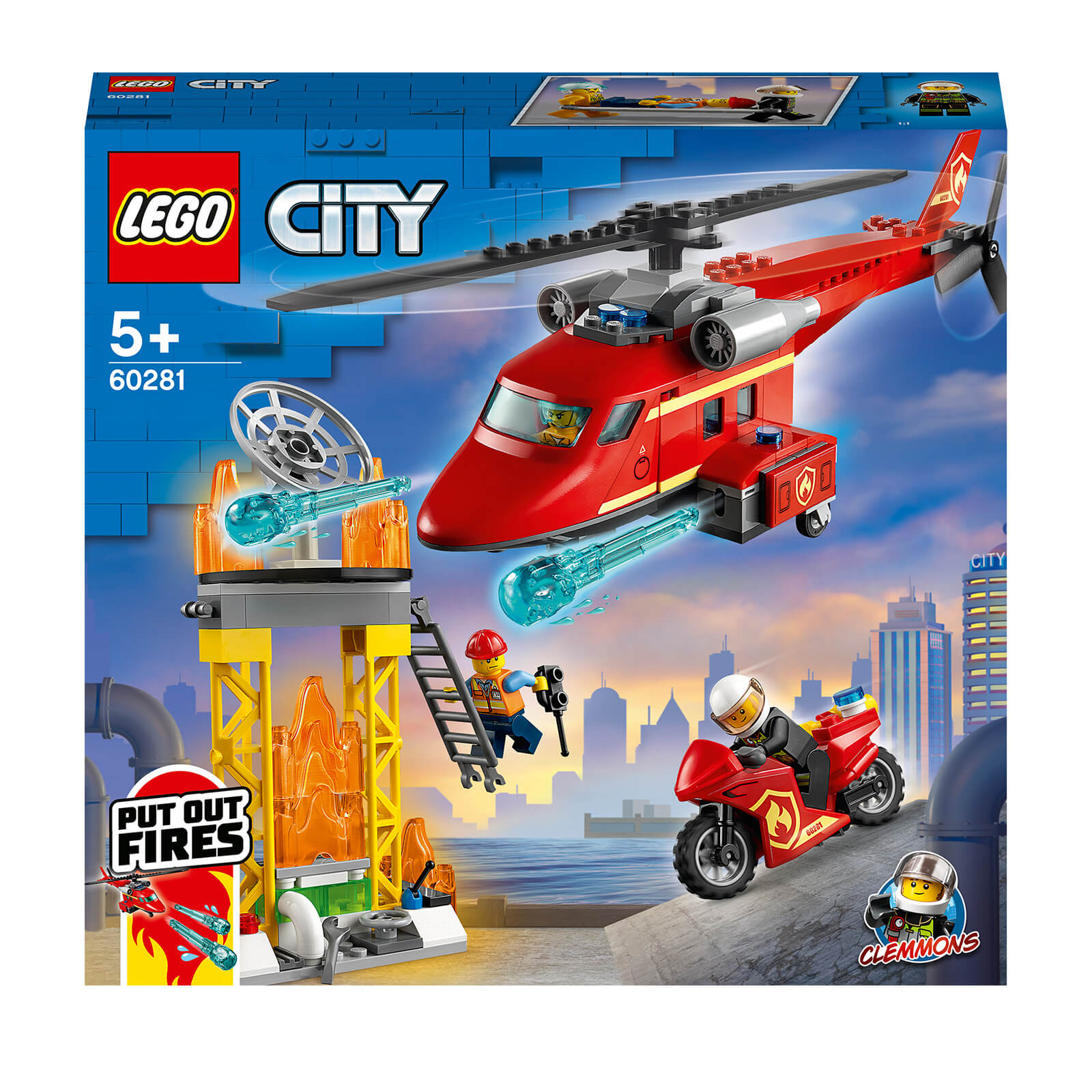 Image of LEGO City Fire Rescue Helicopter - 60281