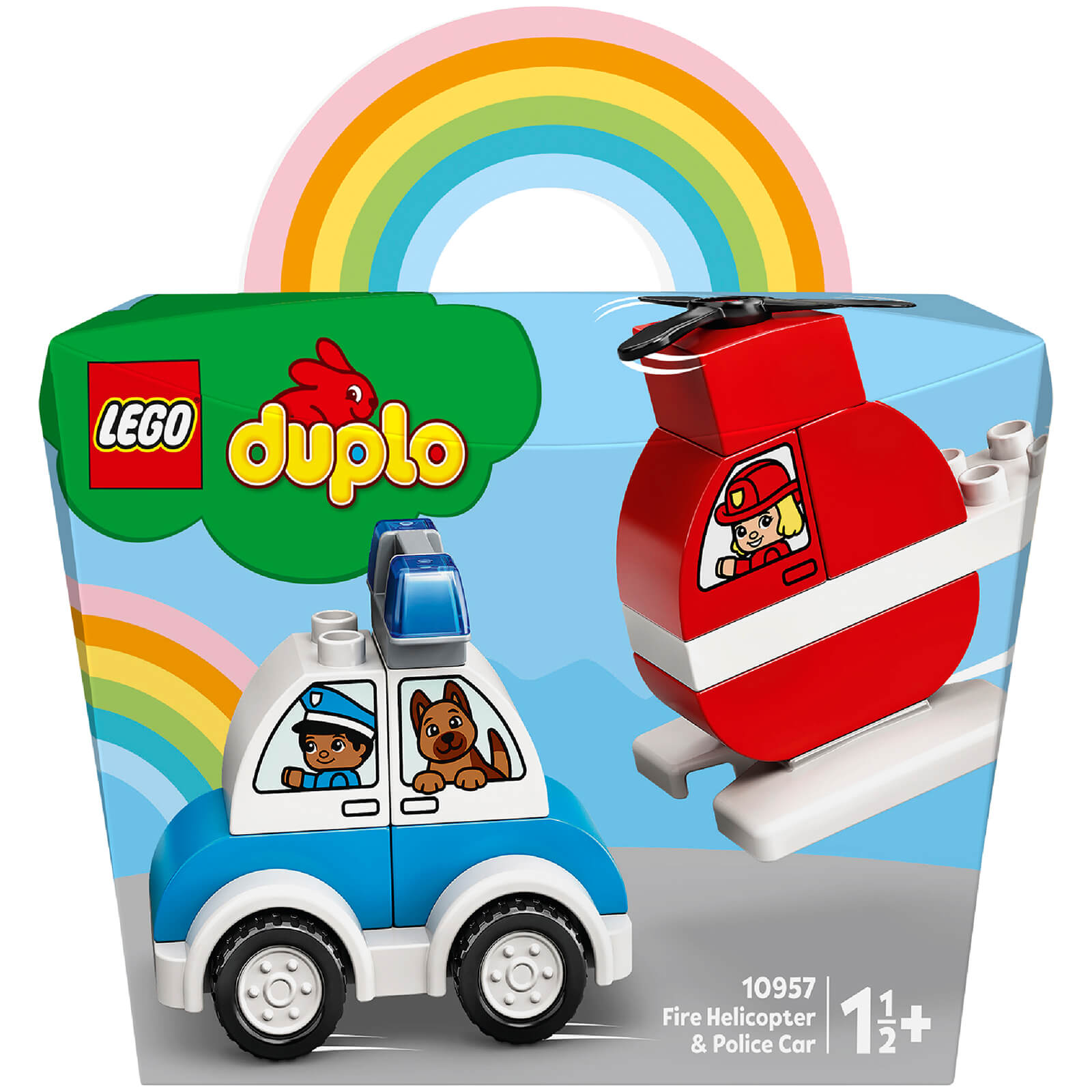 Image of LEGO Duplo Fire Helicopter & Police Car Playset - 10957