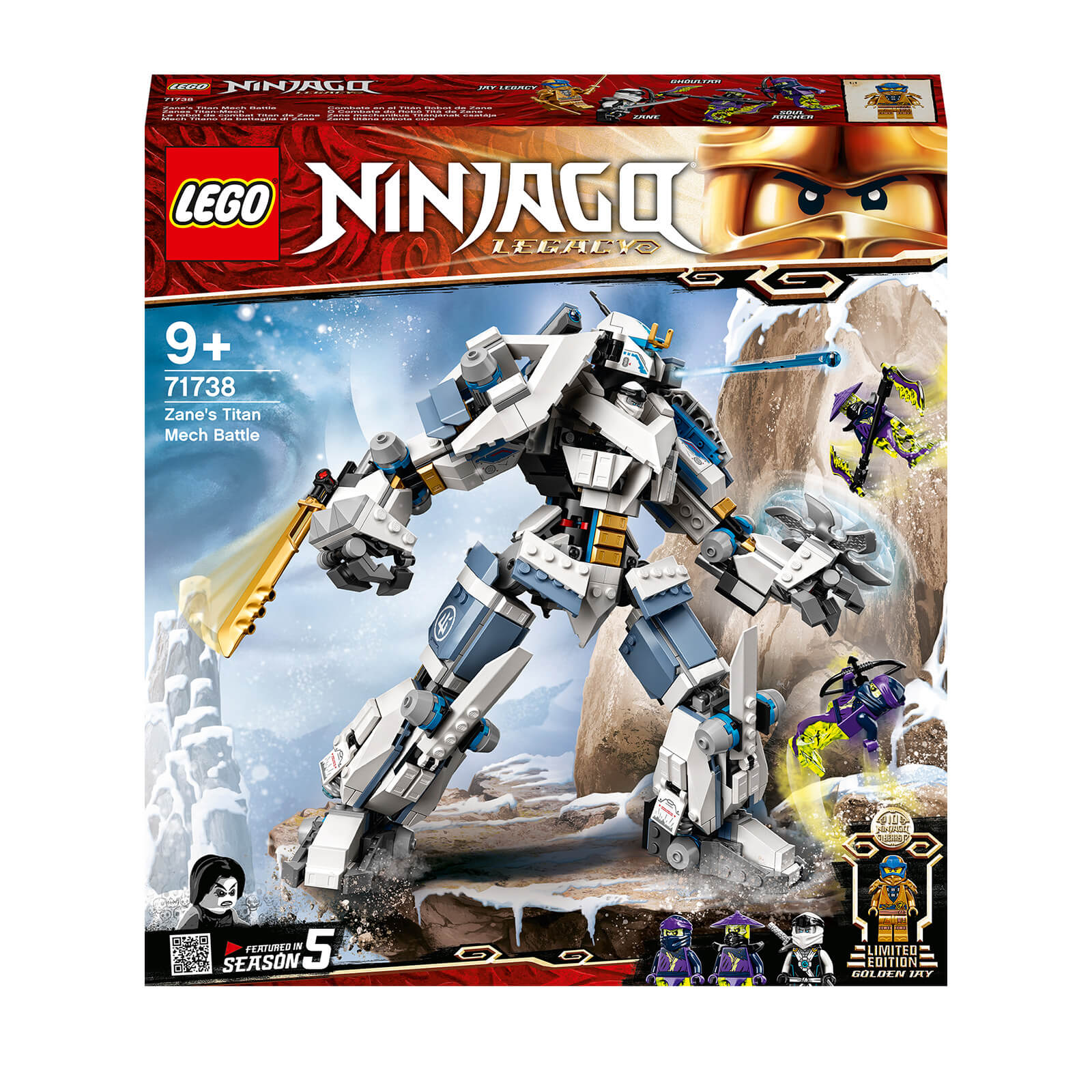 Image of LEGO NINJAGO: Legacy Zane's Titan Mech Battle Toy (71738)