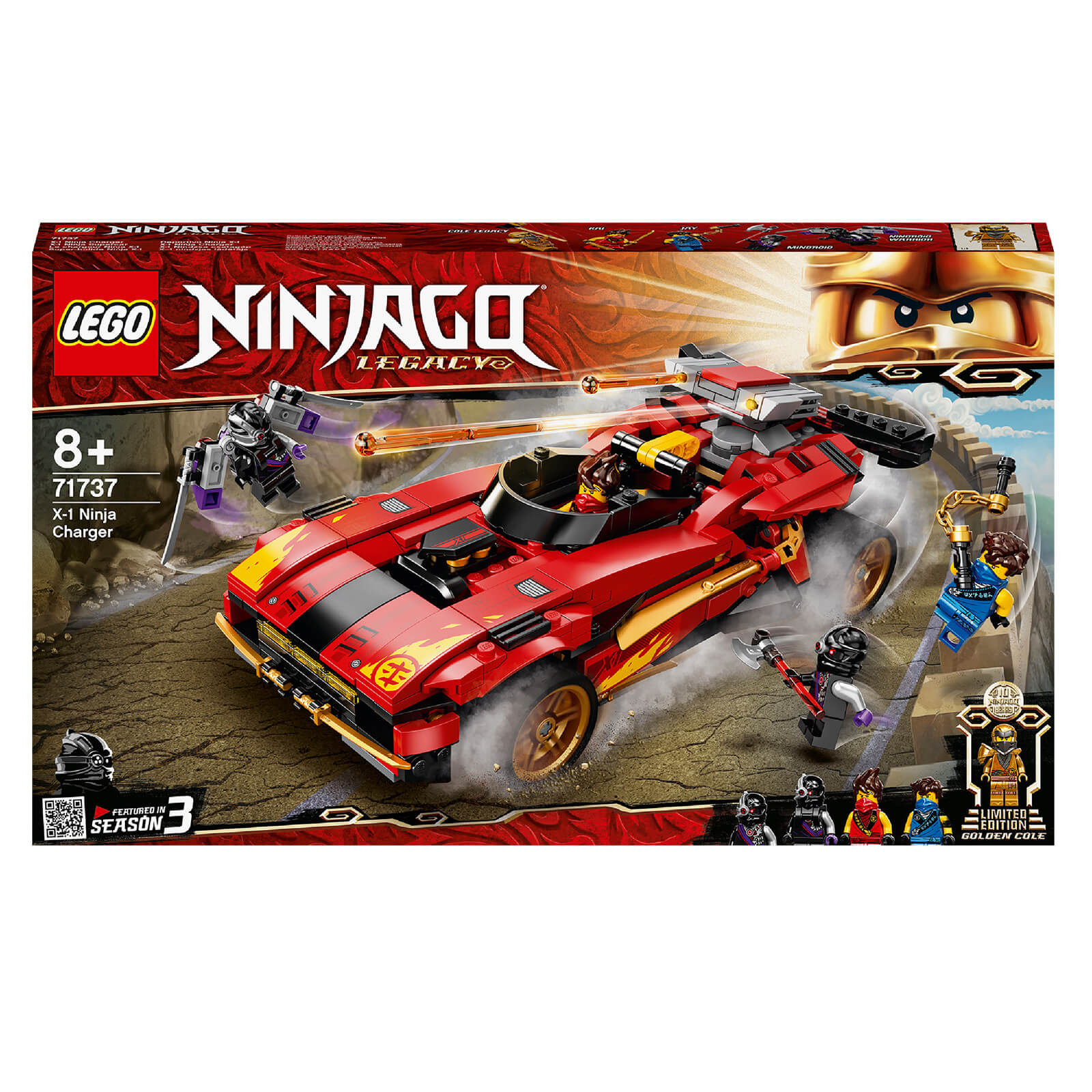 Image of Lego Ninjago Legacy X Ninja Charger Construction Set