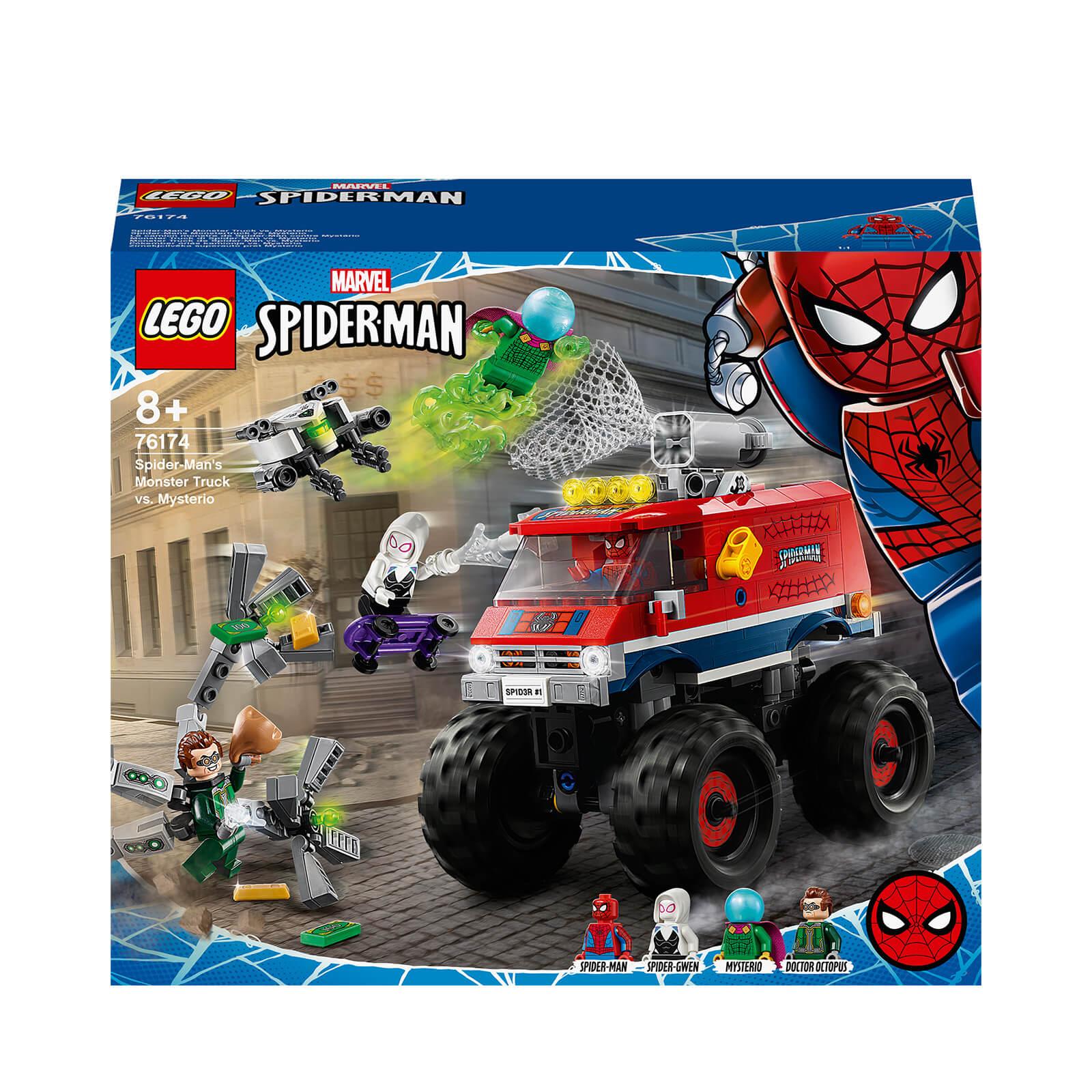 LEGO Marvel Spider Mans Monster Truck Vs Mysterio Toy (76174)