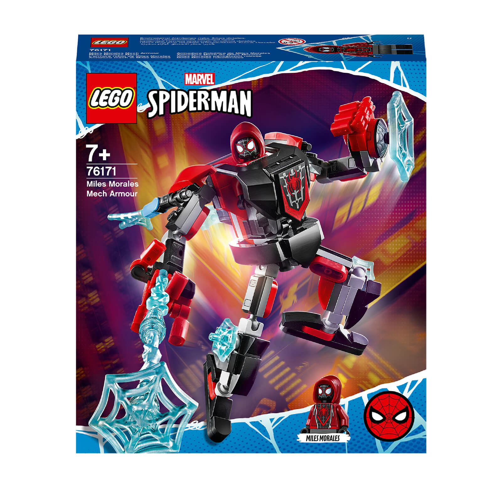 LEGO Marvel Spider Man Miles Morales Mech Armour Toy (76171)