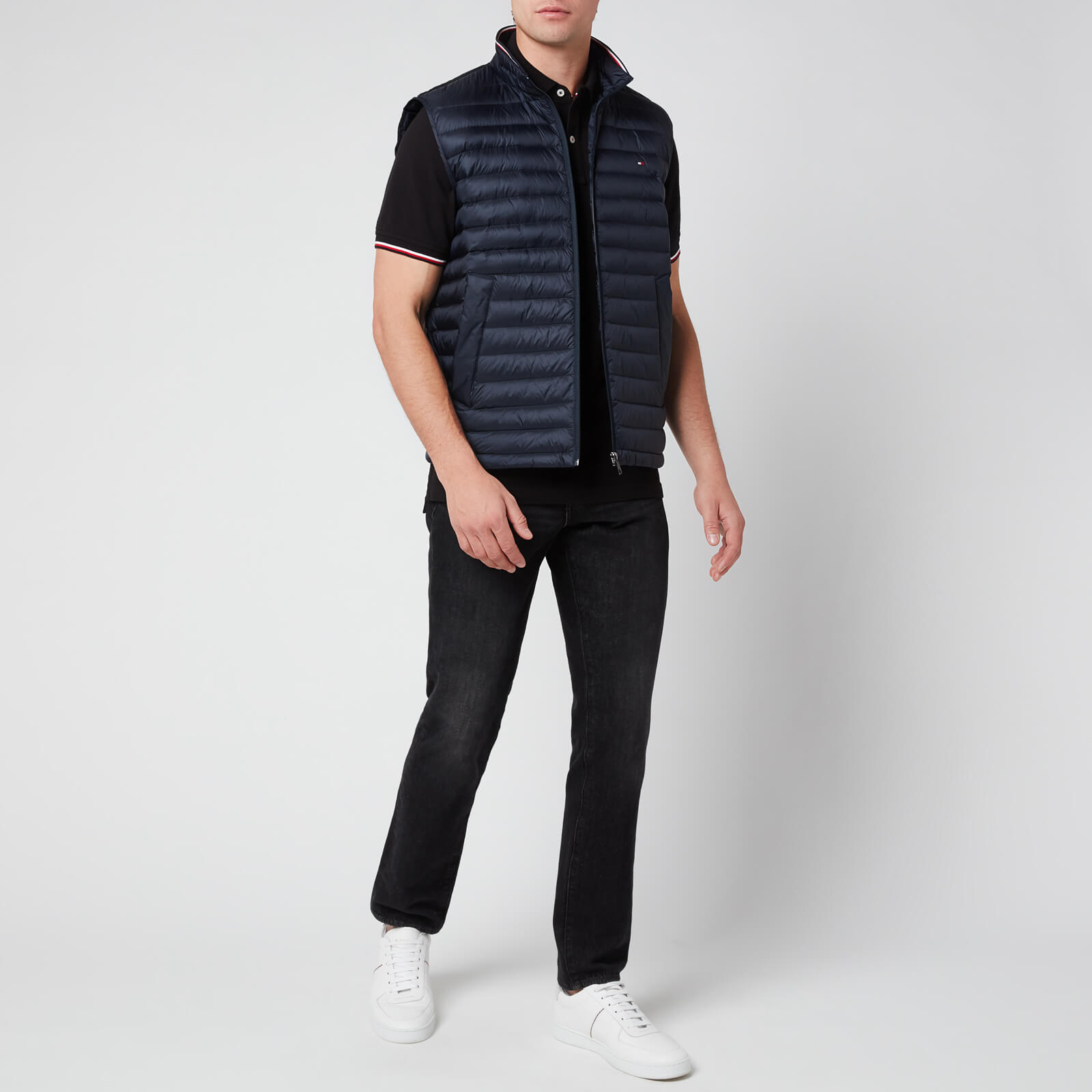 Tommy Hilfiger Men's Core Tommy Tipped Polo Shirt - Black - S