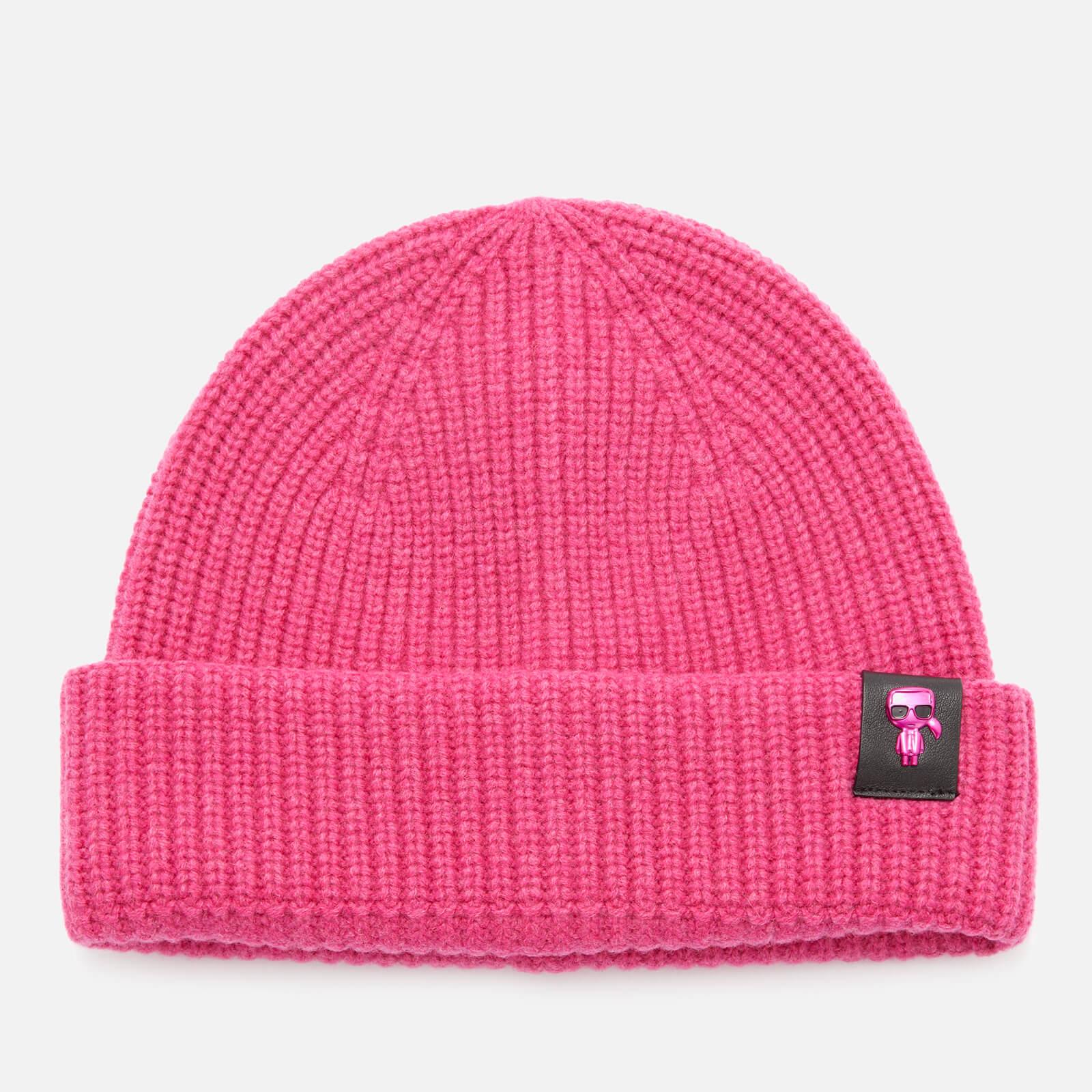 KARL LAGERFELD Women's K/Ikonik 3D Pin Beanie - Pink