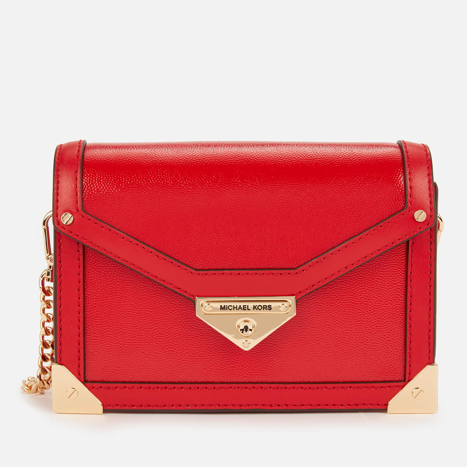 Michael Michael Kors Women's Grace Small Trunk Cross Body Bag - Bright Red