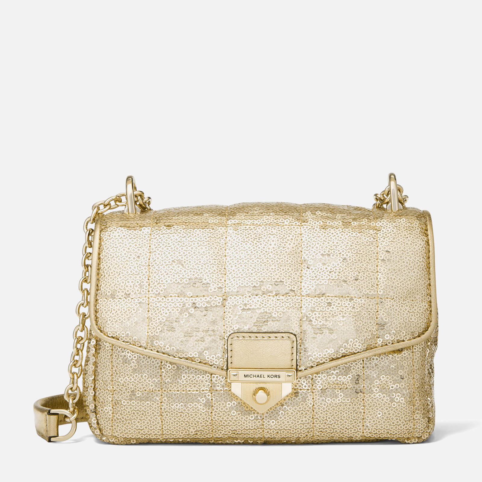 MICHAEL Michael Kors Women's Soho Small Chain Shoulder Bag - Pale Gold