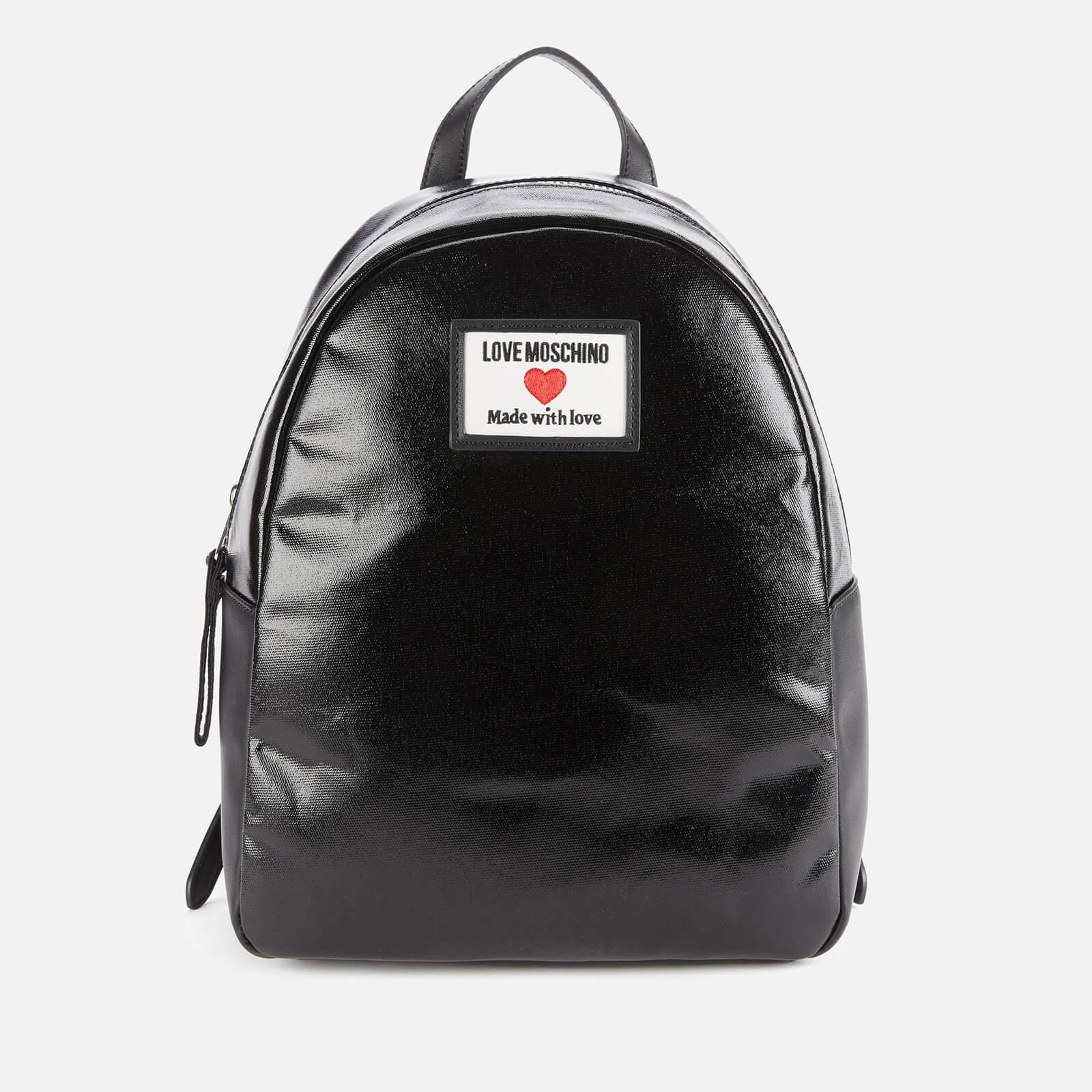 Love Moschino Women's Heart Logo Backpack - Black