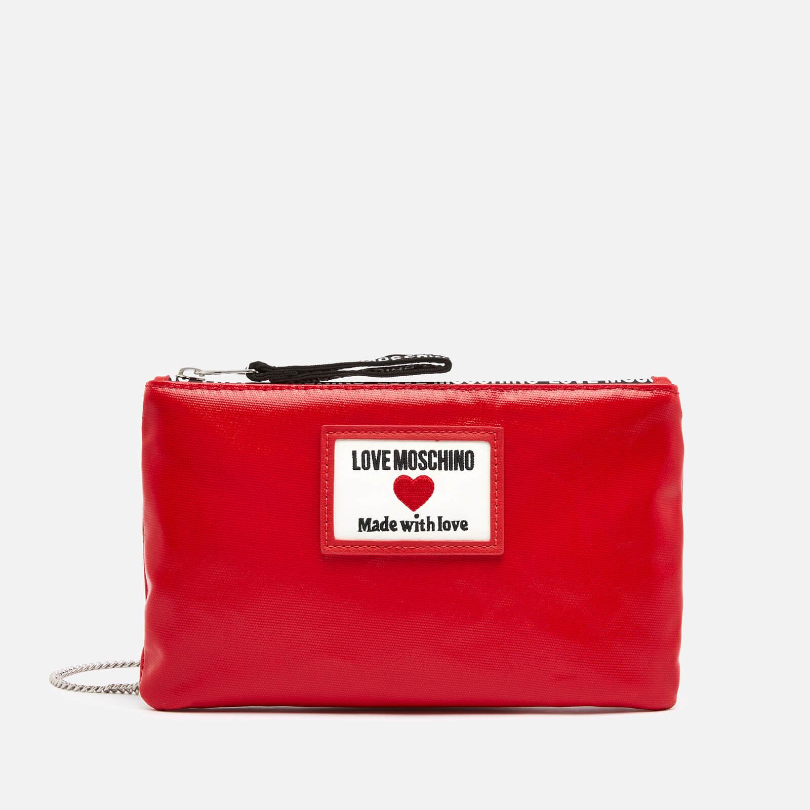 Love Moschino Women's Heart Logo Cross Body Pouch - Red