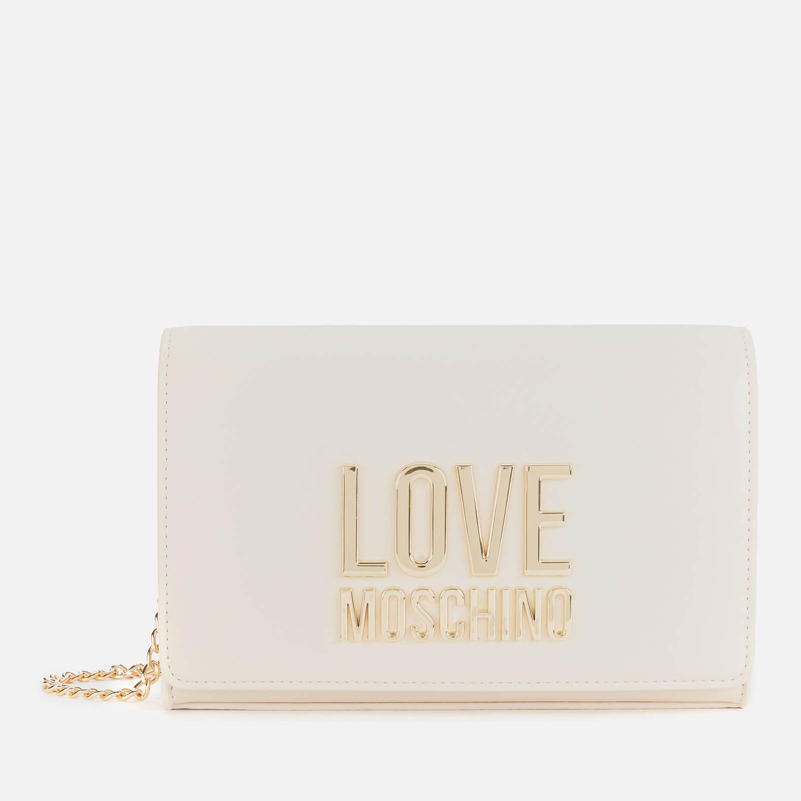 Love Moschino Women's Logo Chain Cross Body Bag - Ivory
