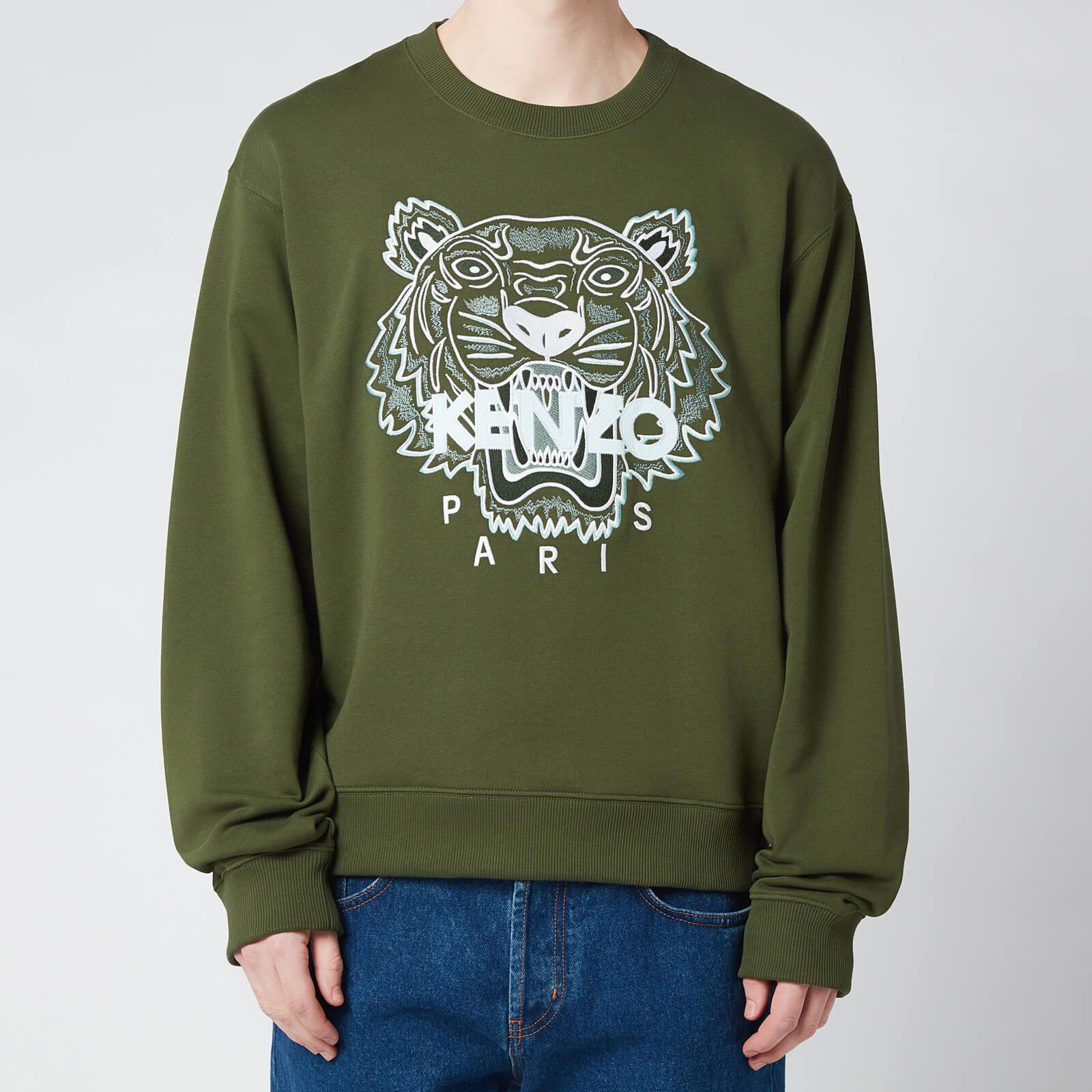KENZO Men's Tiger Classic Sweatshirt - Dark Khaki - S