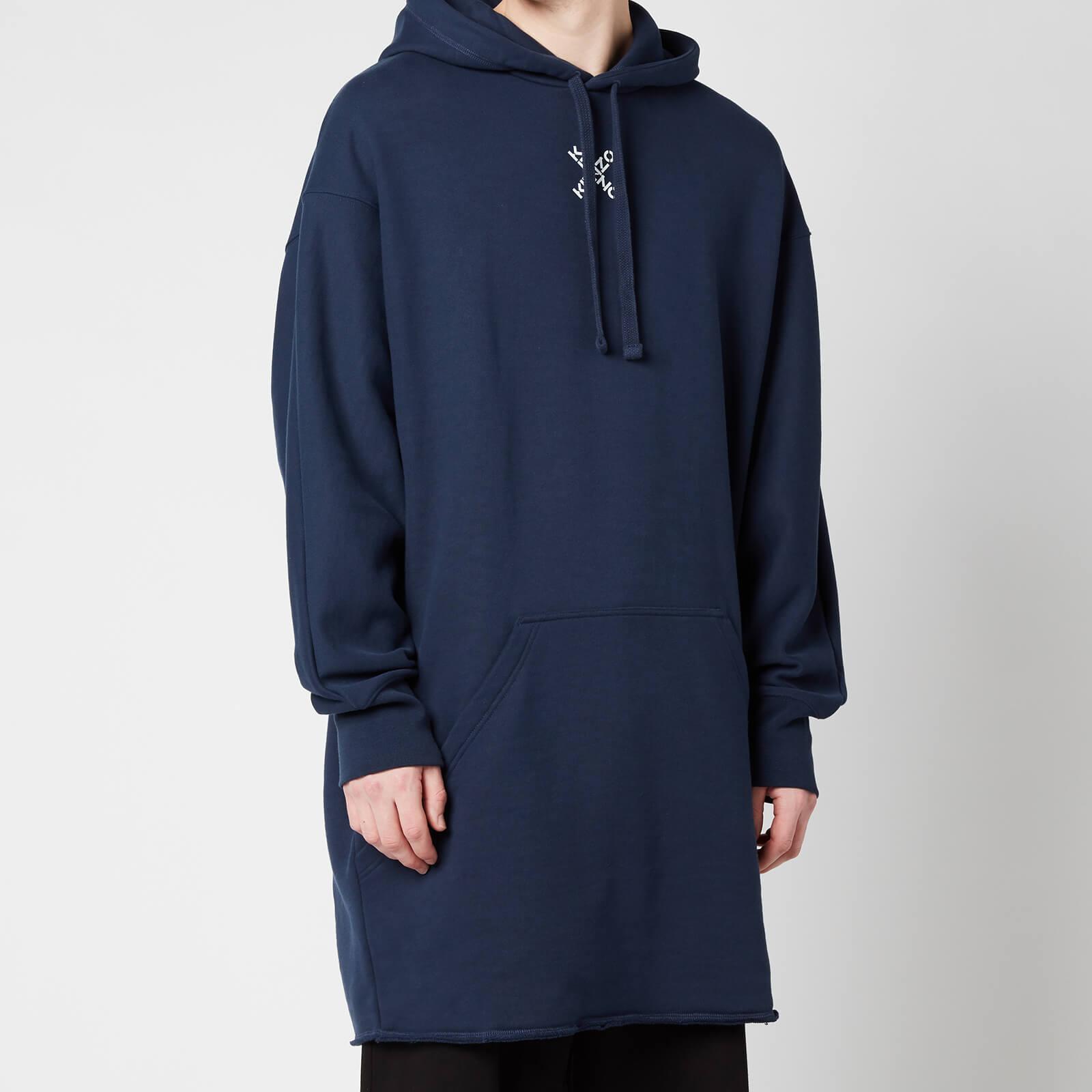 KENZO Men's Sport Long Hooded Sweatshirt - Midnight Blue - XL