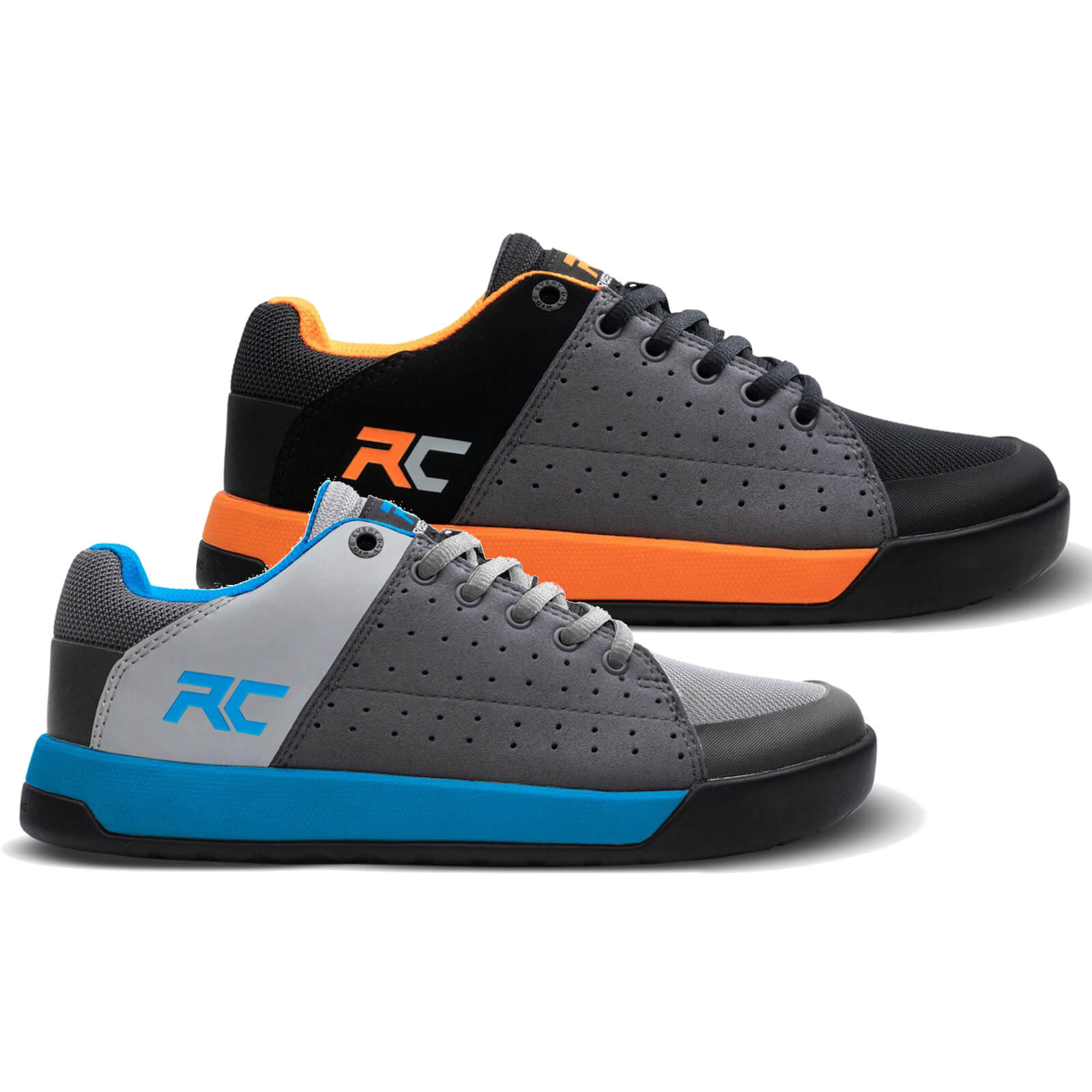 Ride Concepts Youth Livewire Flat MTB Shoes - UK 4/EU 37 - Charcoal/Orange