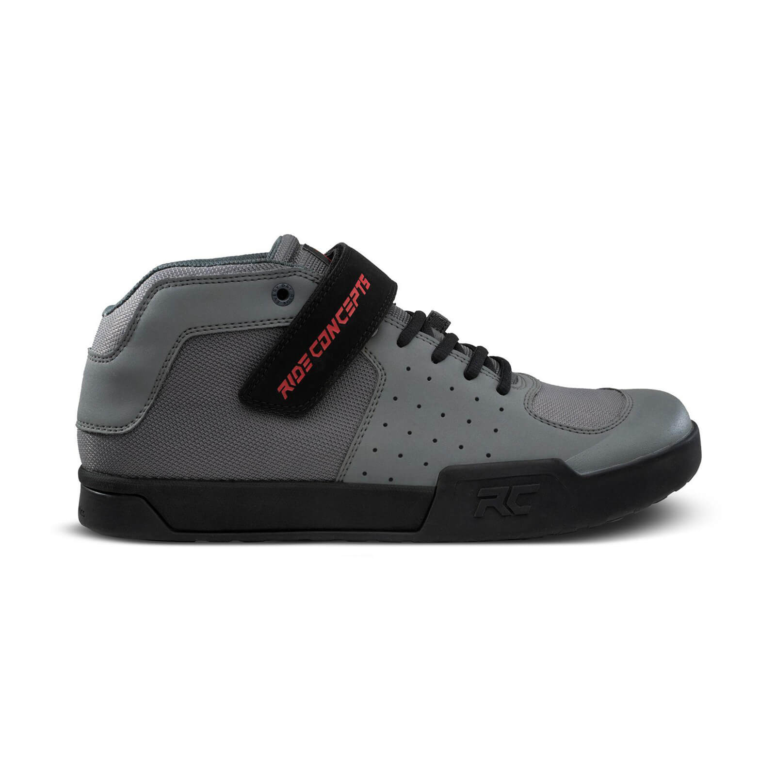 Image of Ride Concepts Wildcat Flat MTB Shoes - UK 6/EU 40 - Charcoal/Red