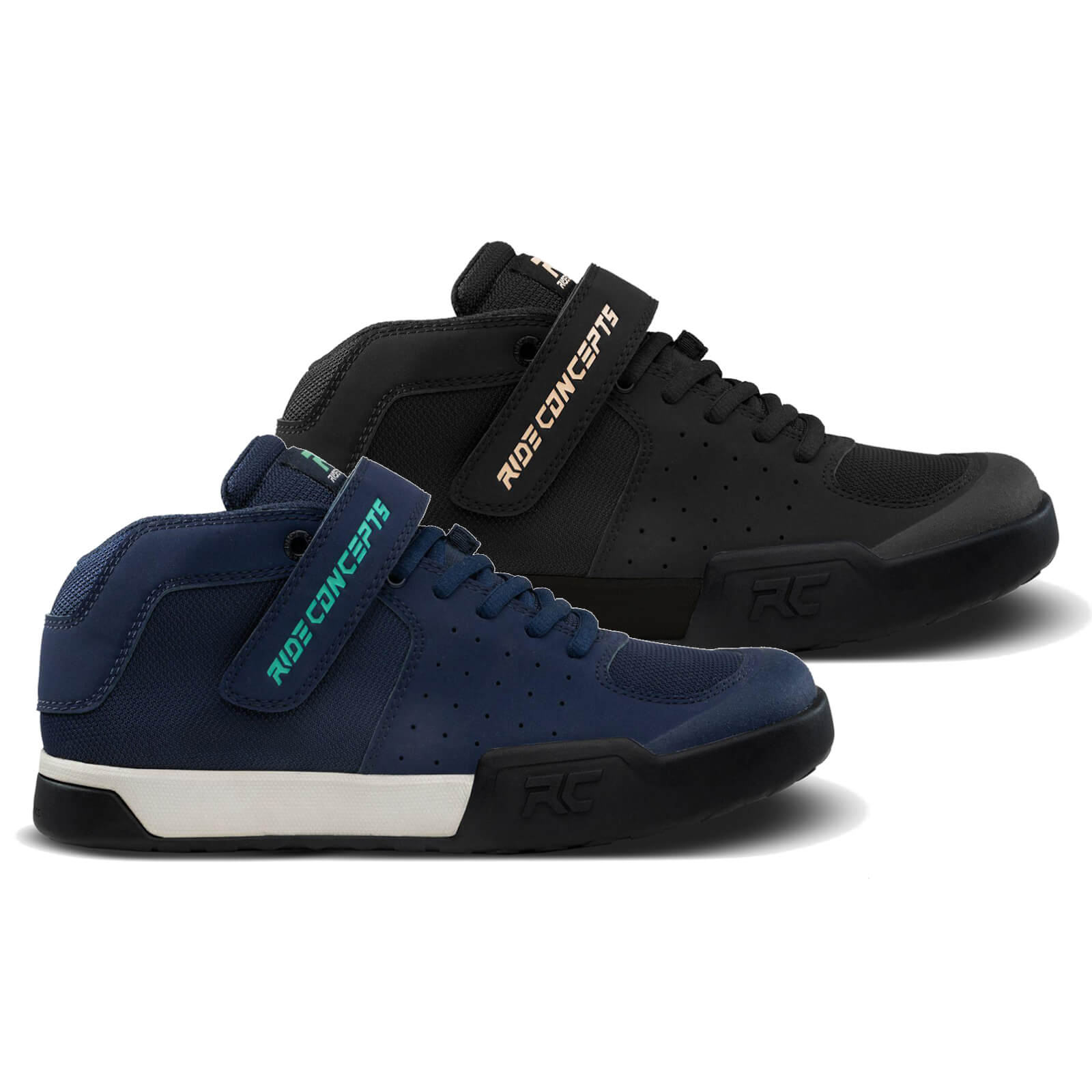 Ride Concepts Women's Wildcat Flat MTB Shoes - UK 5/EU 36 - Navy/Teal
