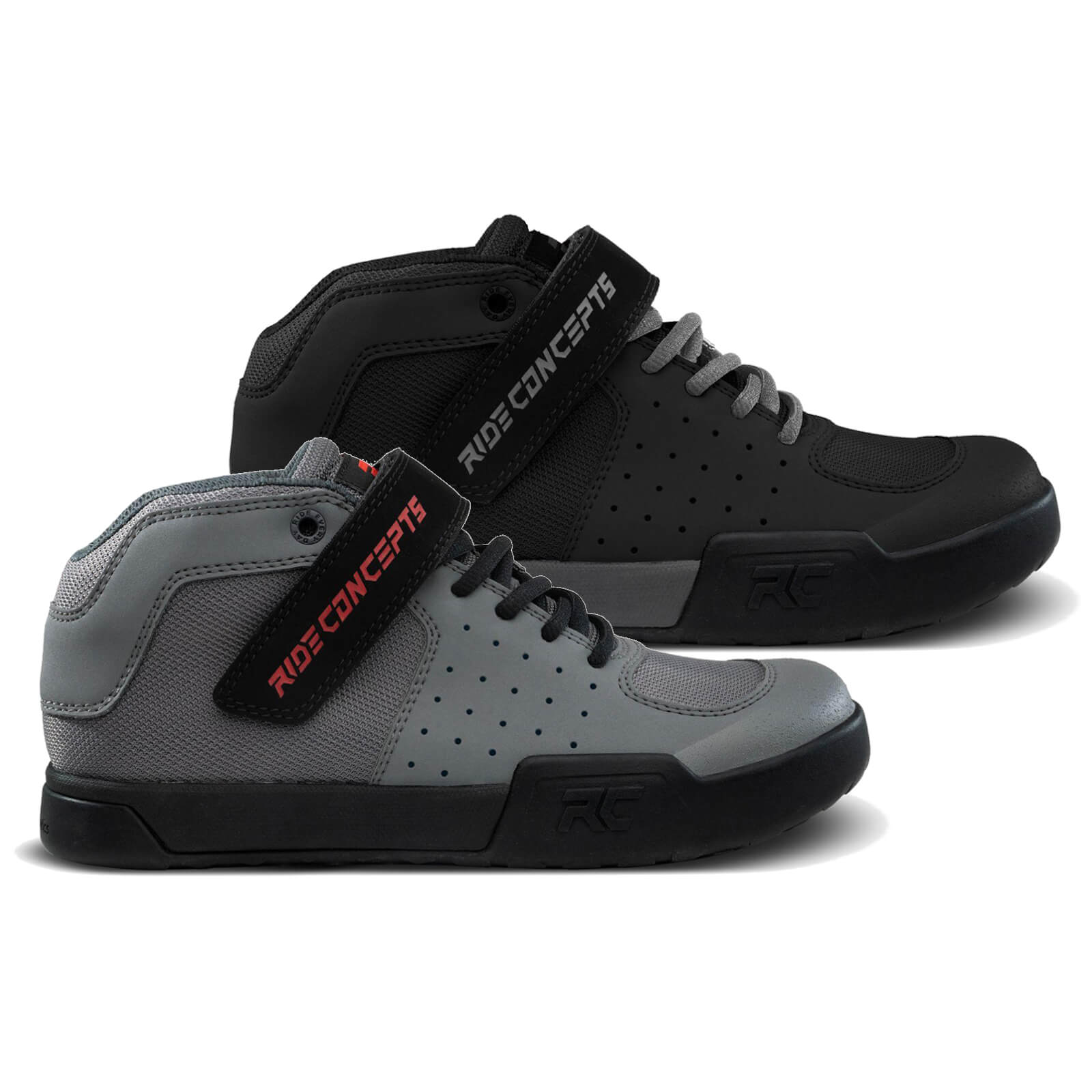 Ride Concepts Youth Wildcat Flat MTB Shoes - UK 5/EU 38 - Charcoal/Red