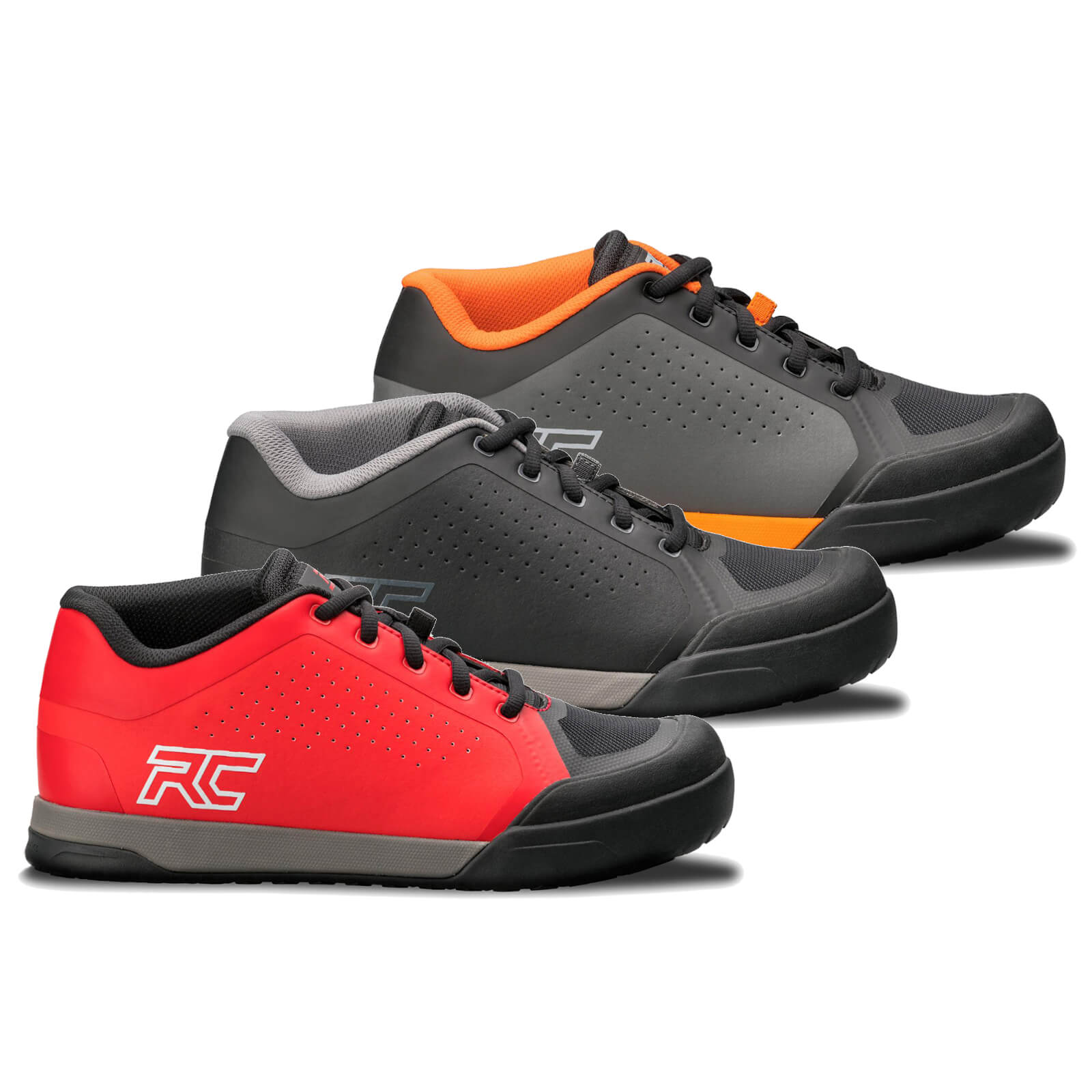 Ride Concepts Powerline Flat MTB Shoes - UK 8.5/EU 42.5 - Black/Charcoal