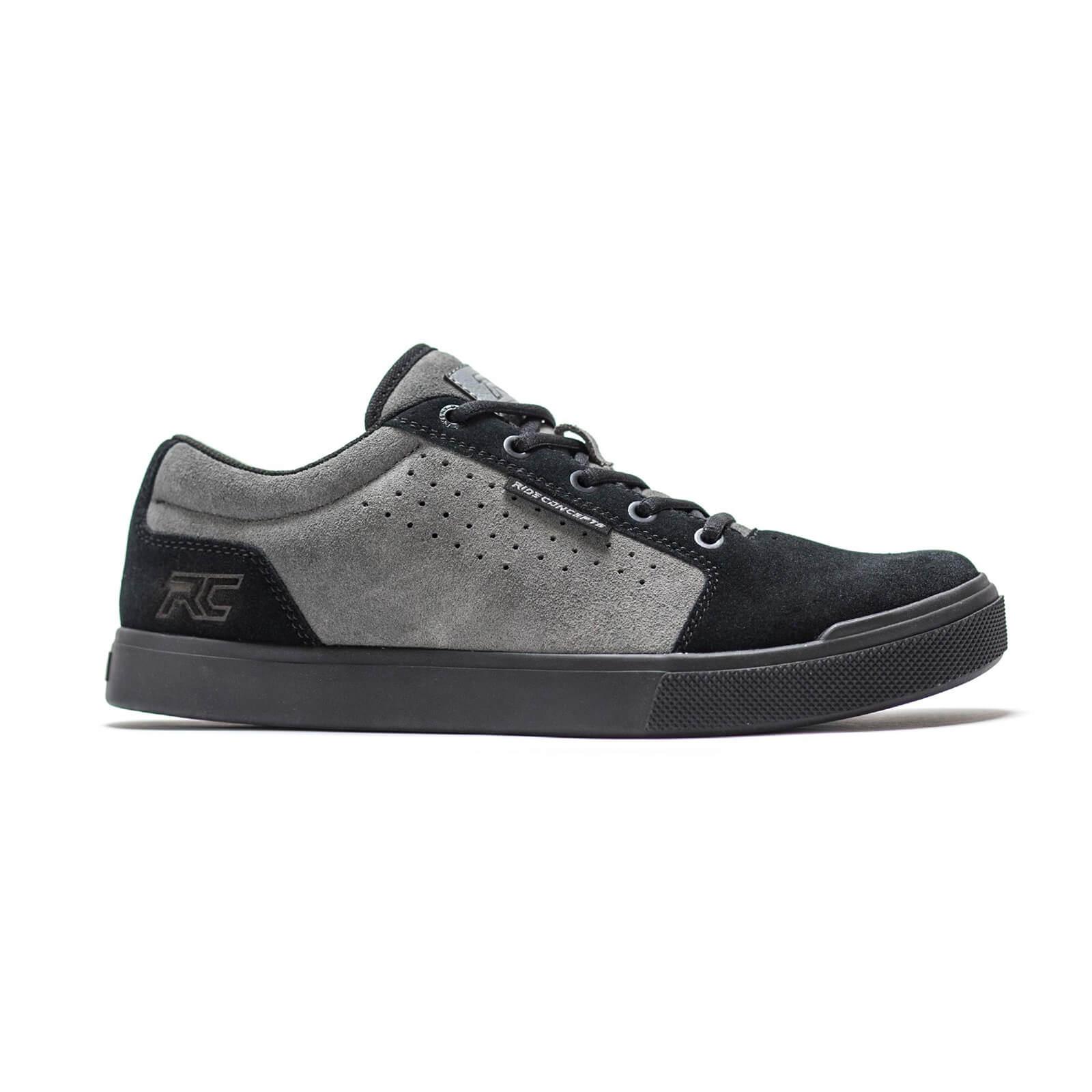 Ride Concepts Vice Flat MTB Shoes - UK 6/EU 40 - Charcoal/Black