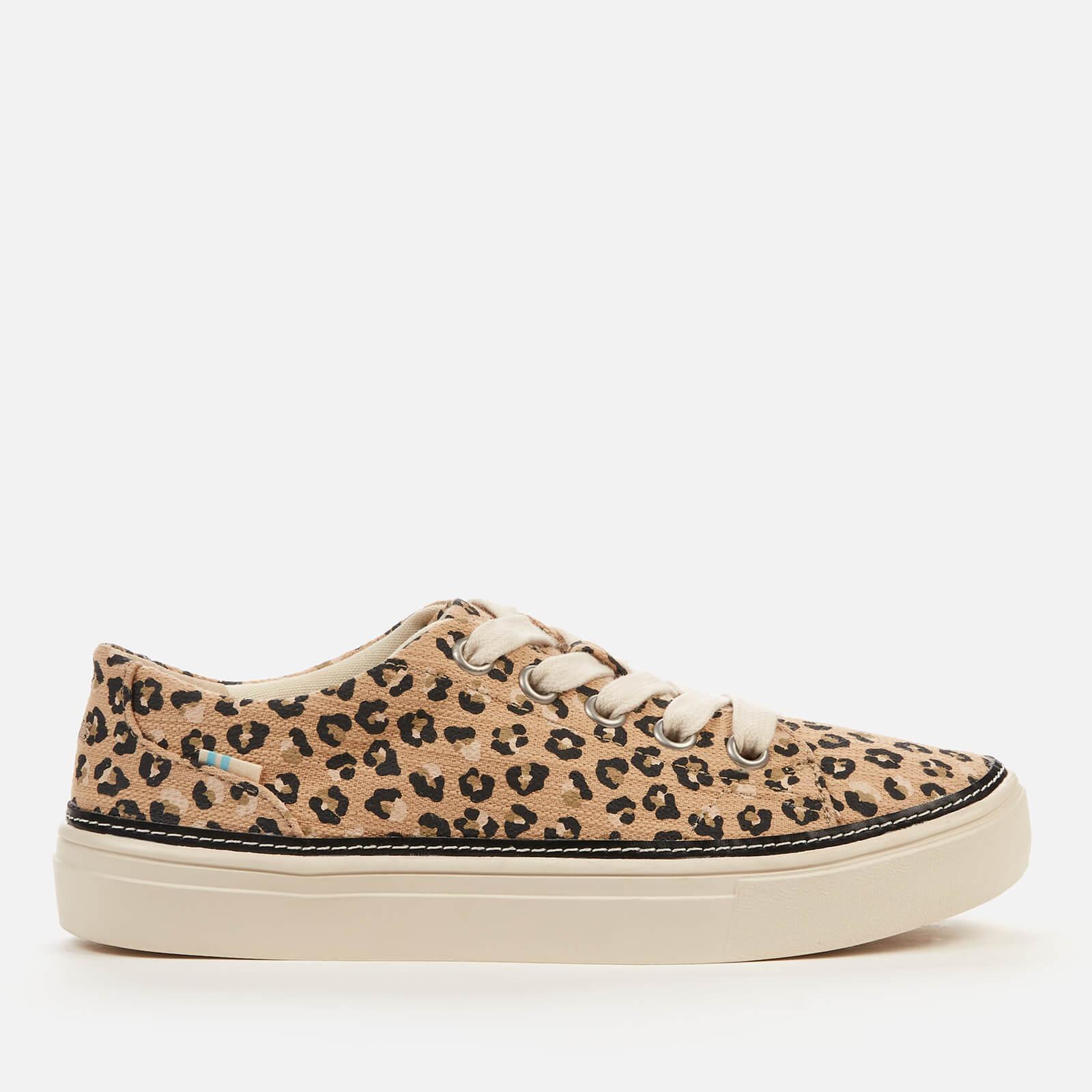 TOMS Women's Alex Vegan Low Top Trainers - Natural Textured Cheetah - UK 3