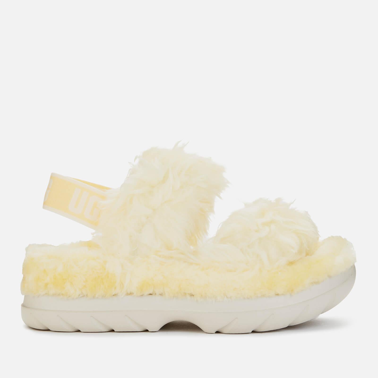 Ugg Women's Fluff Sugar Sustainable Sandals - Yellow - Uk 3