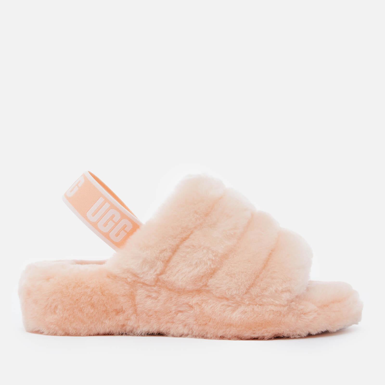 Ugg Women's Fluff Yeah Slide Sheepskin Sandals - Scallop - Uk 3