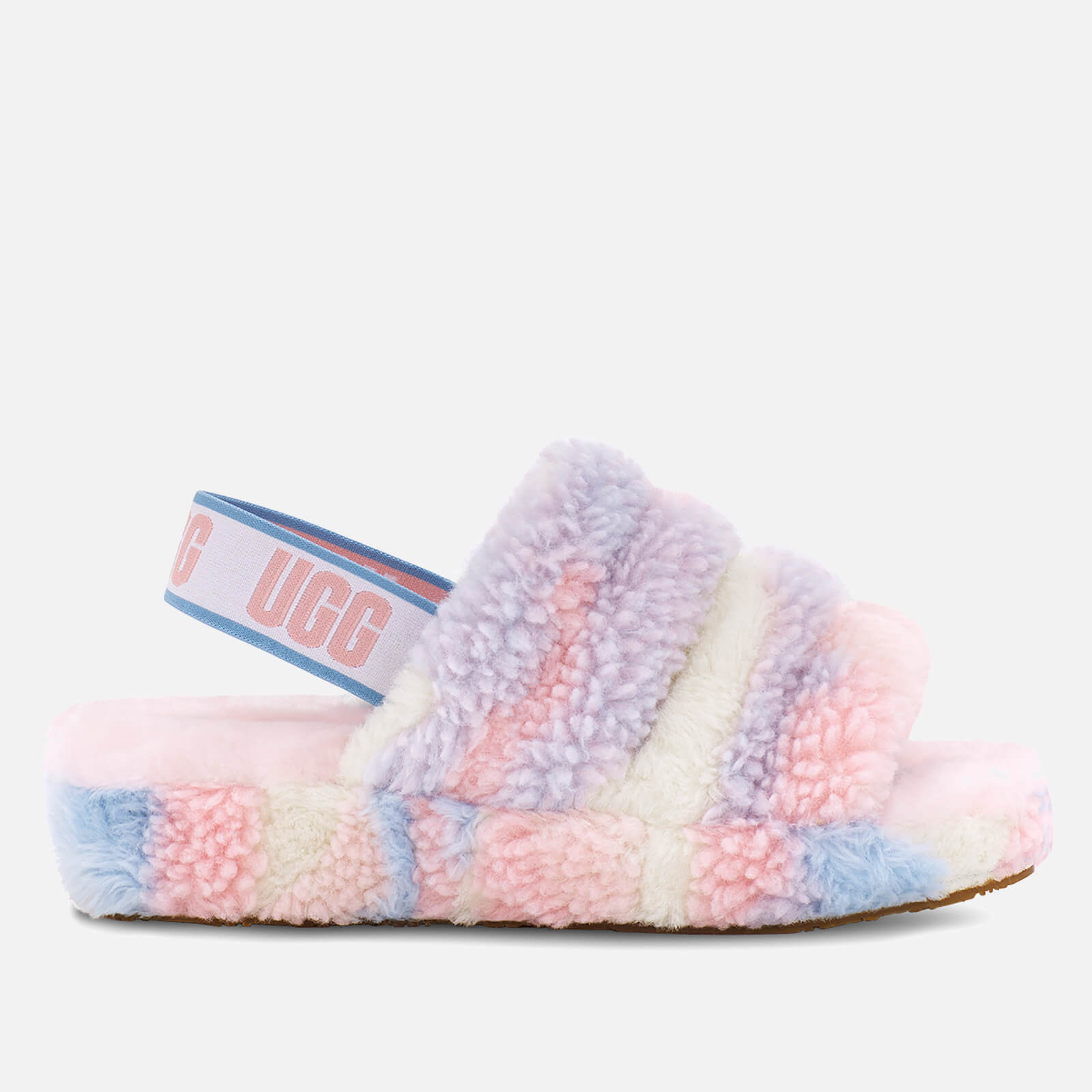 Ugg Women's Fluff Yeah Pride Collection Slippers - Pride Stripes - Uk 3