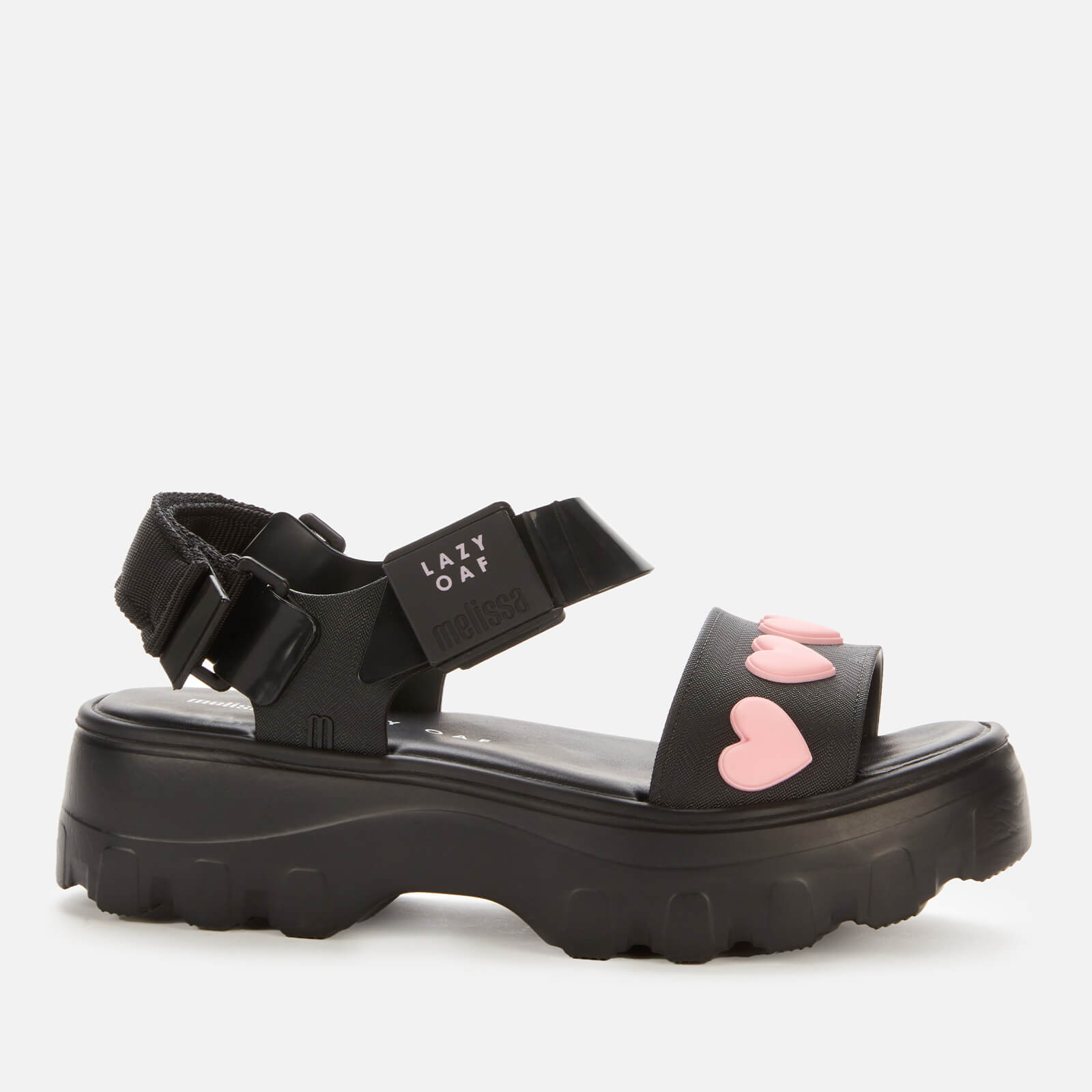 Click to view product details and reviews for Melissa X Lazy Oaf Womens Kick Off Sandals Black Heart Uk 4.