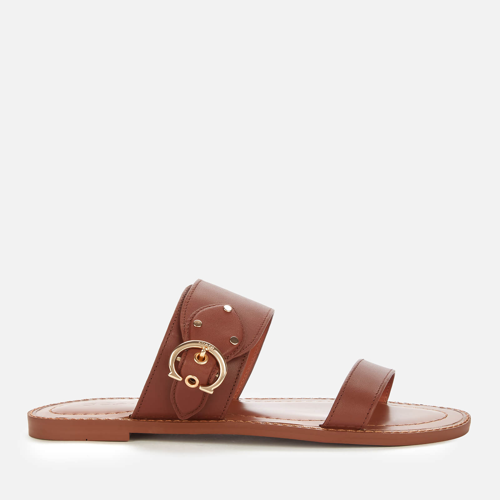 Click to view product details and reviews for Coach Womens Harlow Leather Sandals Saddle Uk 3.