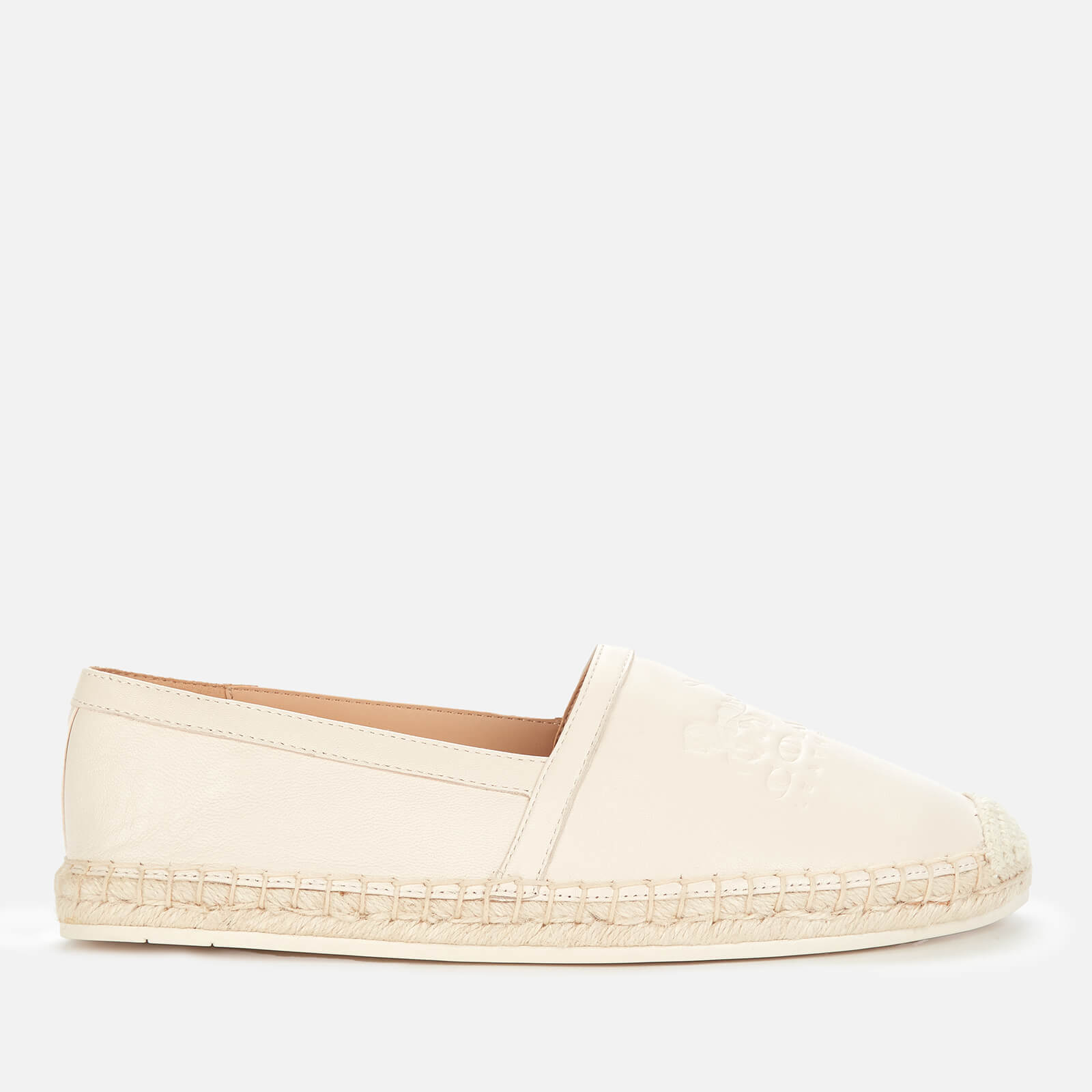 Coach Womens Charlie Leather Espadrilles Chalk Uk 8