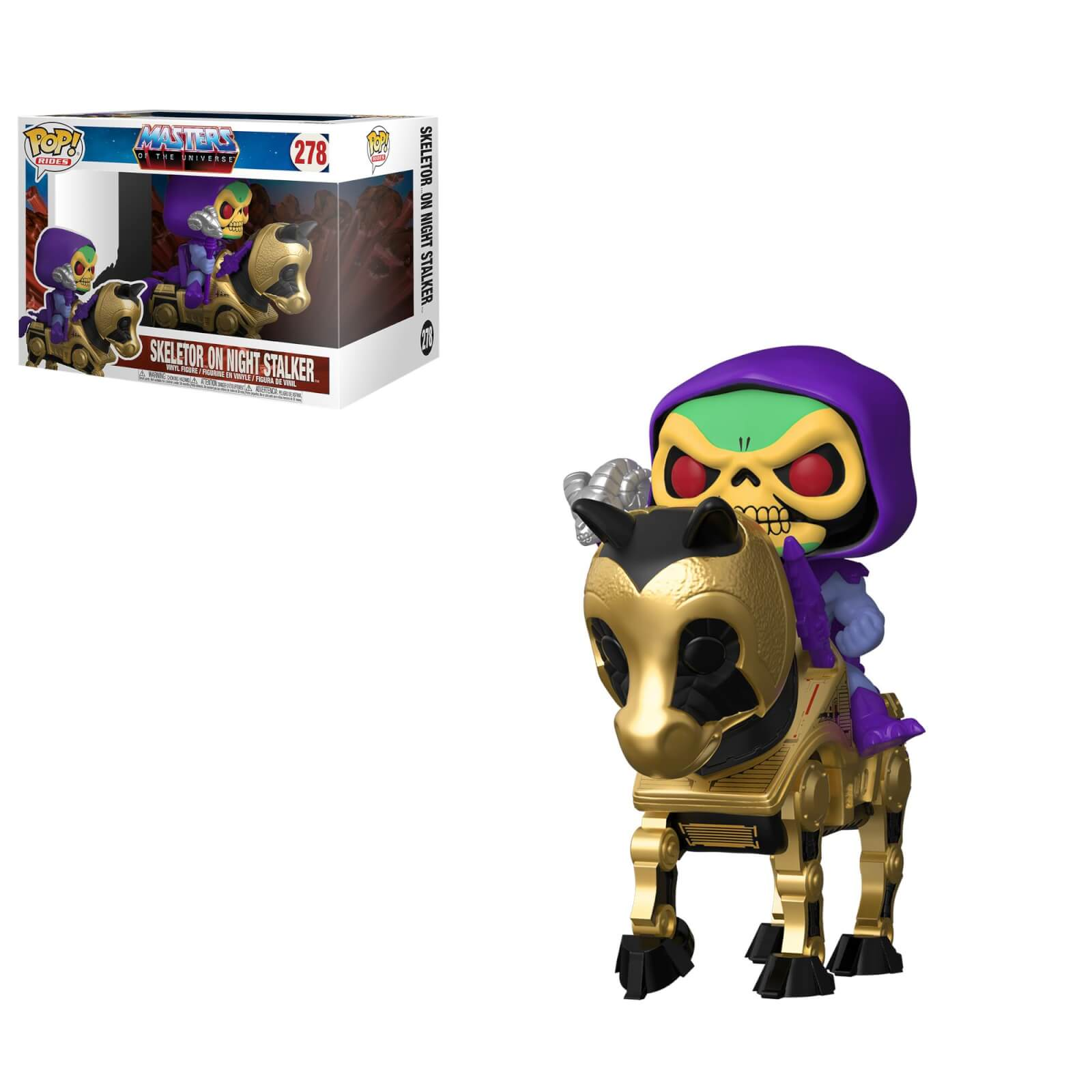Masters of the Universe Skeltor with Night Stalker Funko Pop! Ride