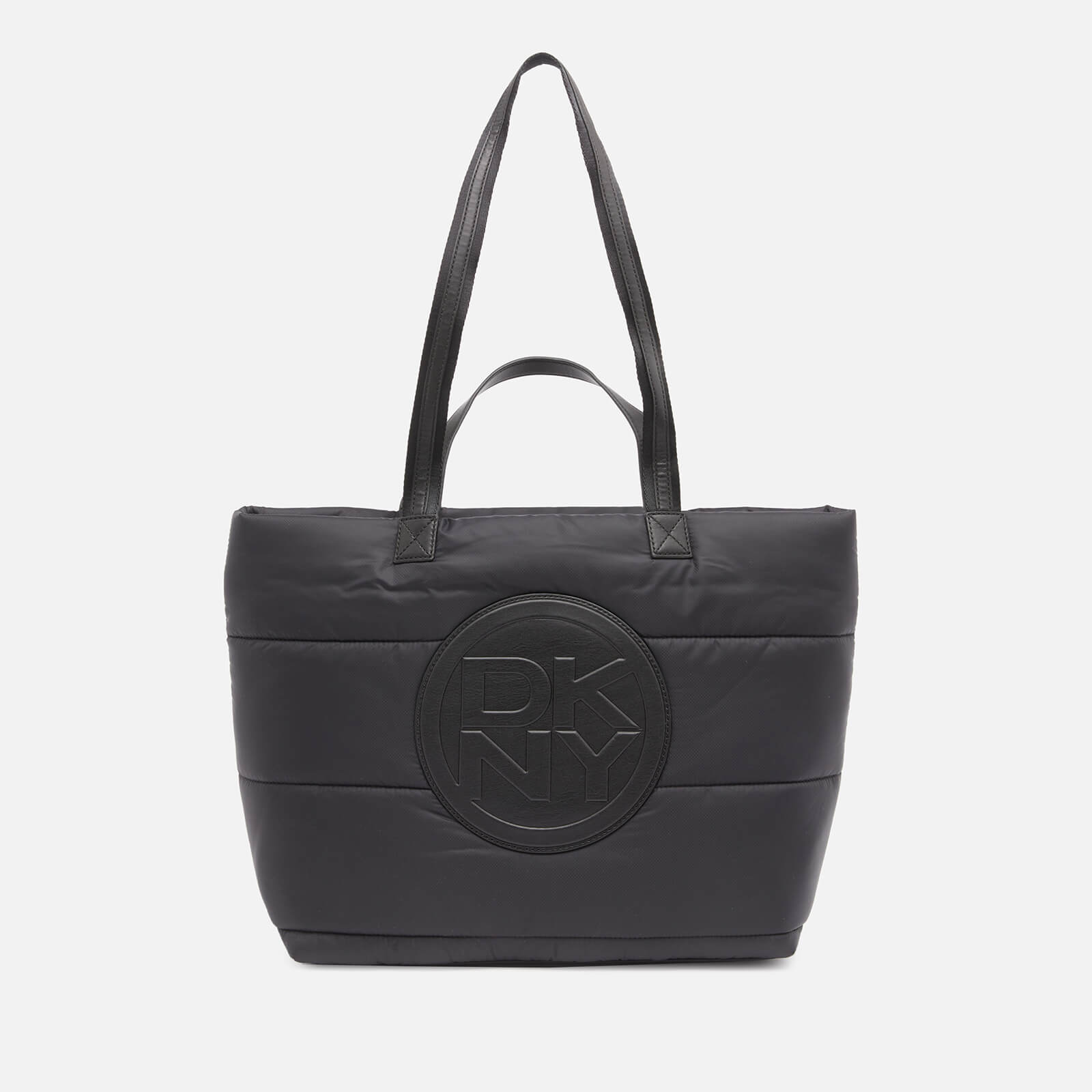DKNY Women's Toby Quilted Nylon Tote Bag - Black