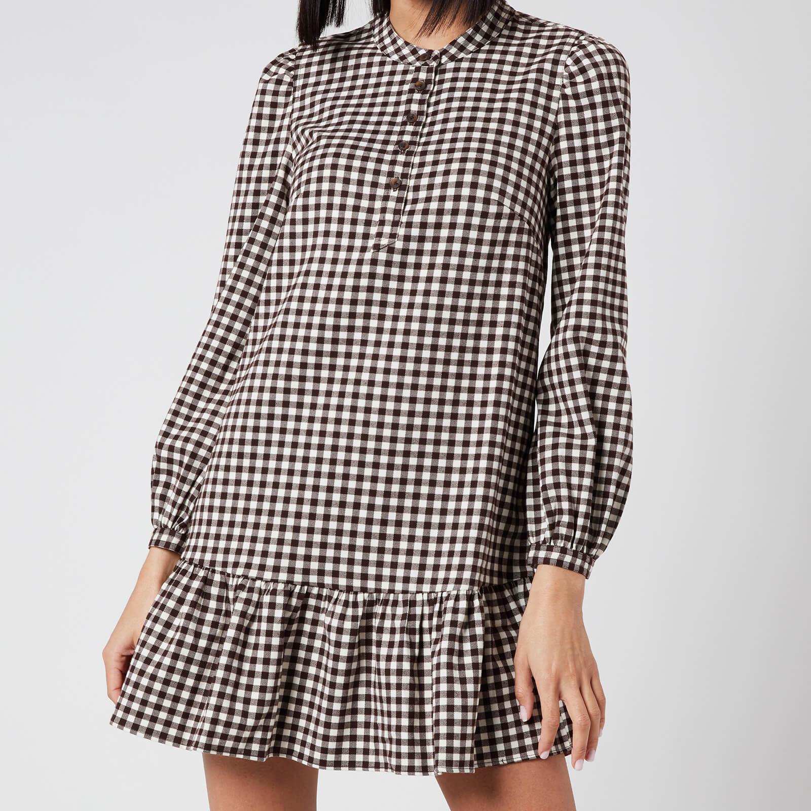Whistles Women's Gingham Dress - Brown/Multi - UK 6