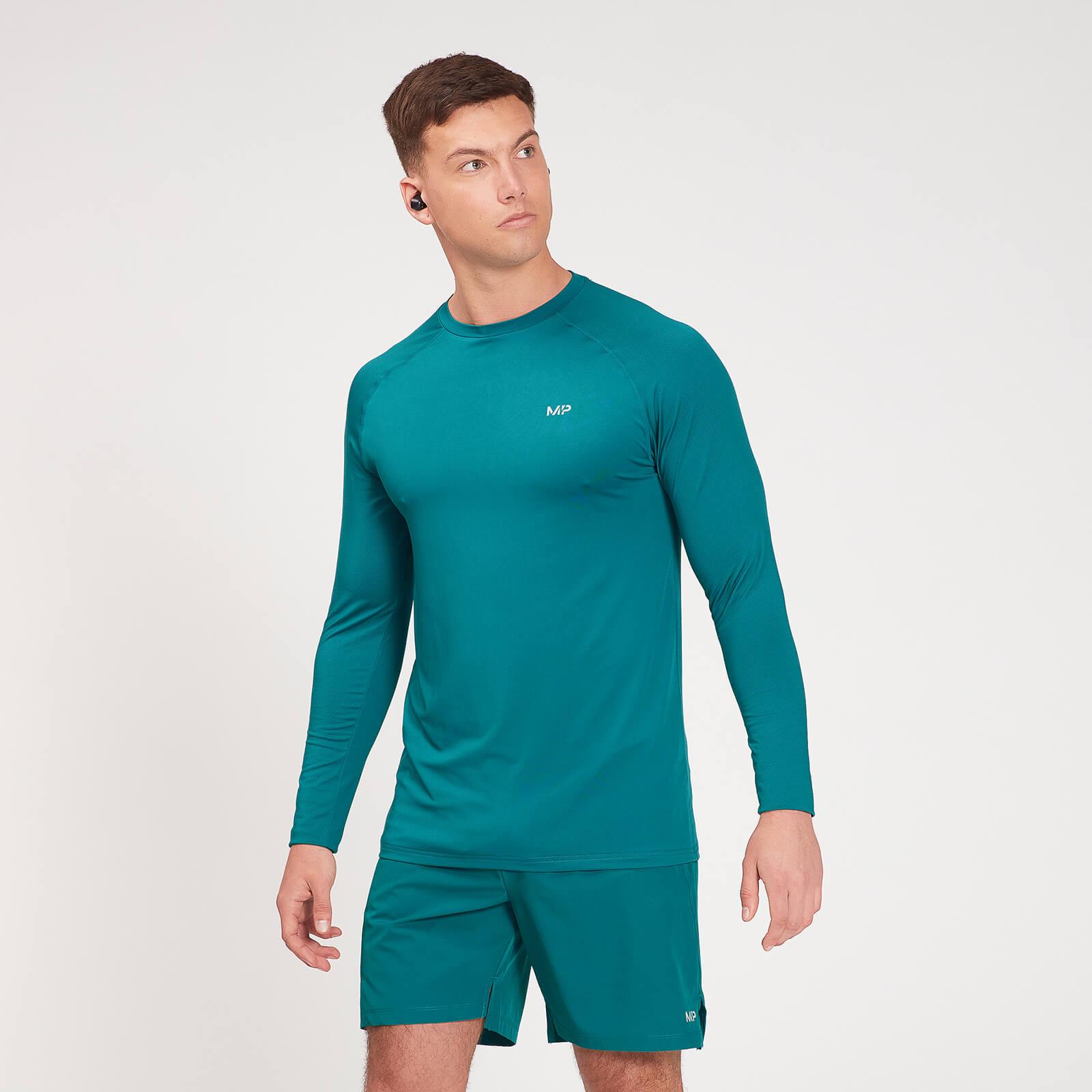 Купить MP Men's Velocity Long Sleeve Top - Teal - XL, Myprotein International