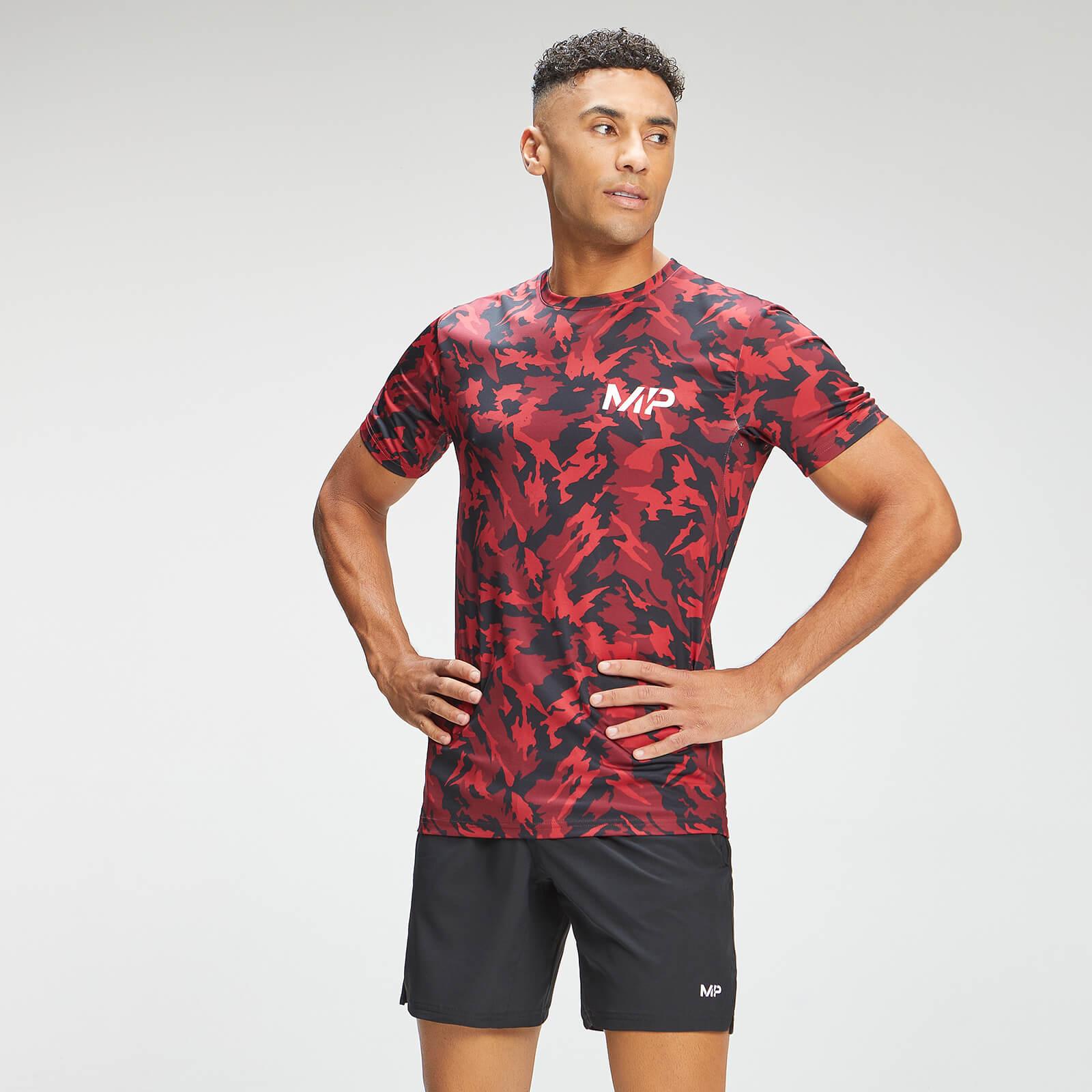 MP Men's Adapt Camo Short Sleeve T-Shirt- Red Camo - S, Myprotein International  - купить со скидкой