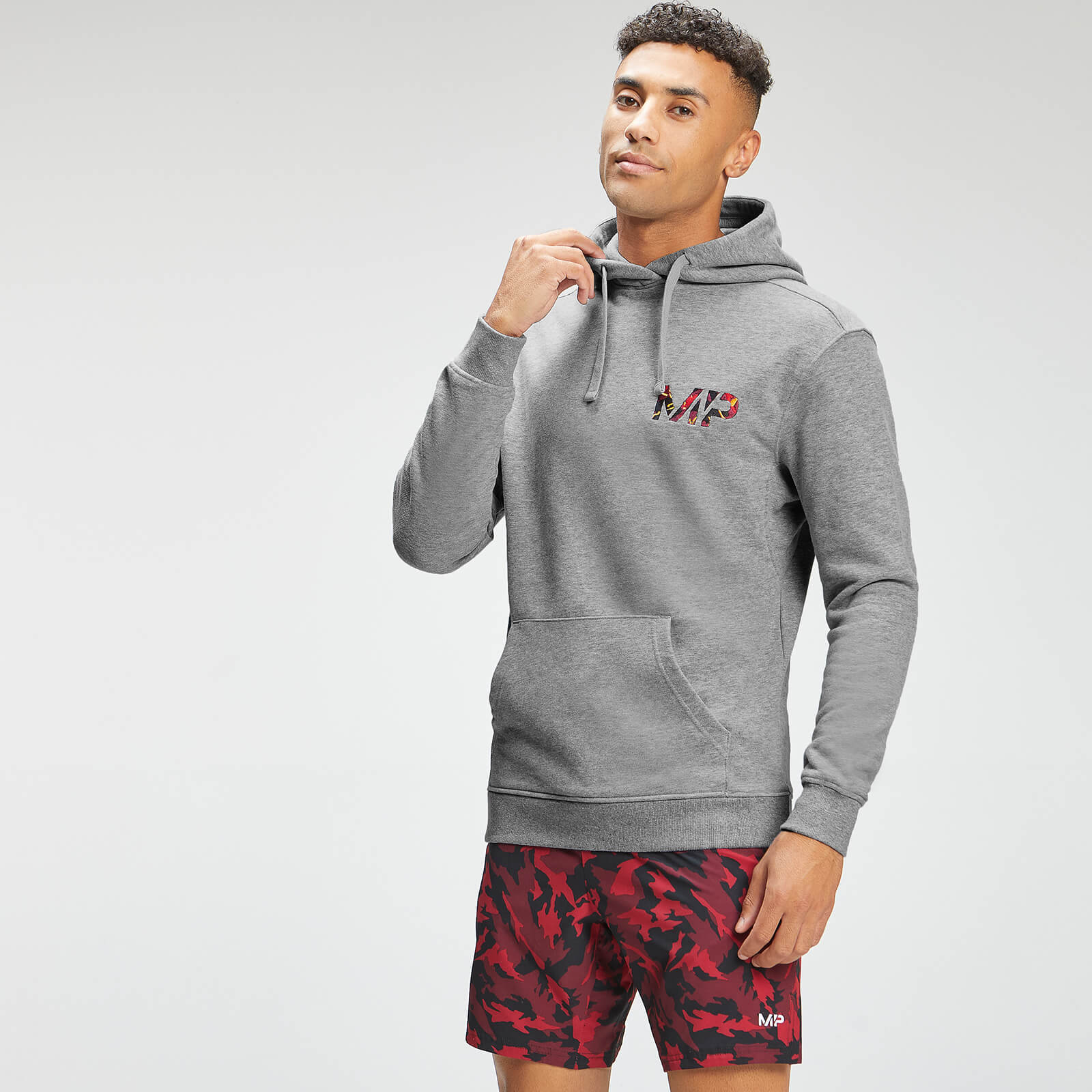 Купить MP Men's Adapt Embroidered Hoodie | Storm Grey Marl | MP - XXL, Myprotein International