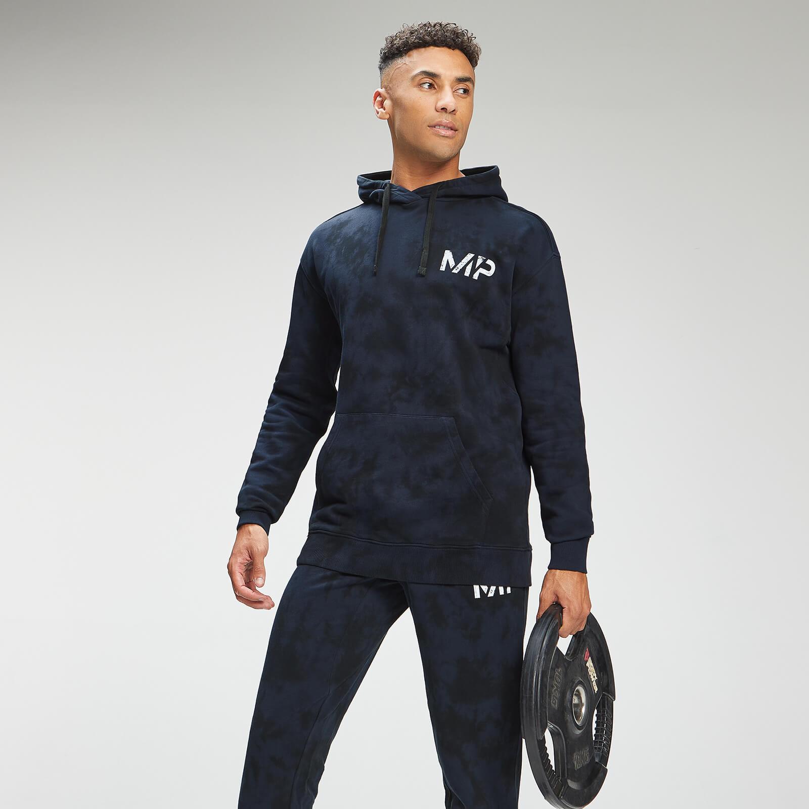 Купить MP Men's Adapt Tie Dye Hoodie - Petrol Blue/Black - XXS, Myprotein International