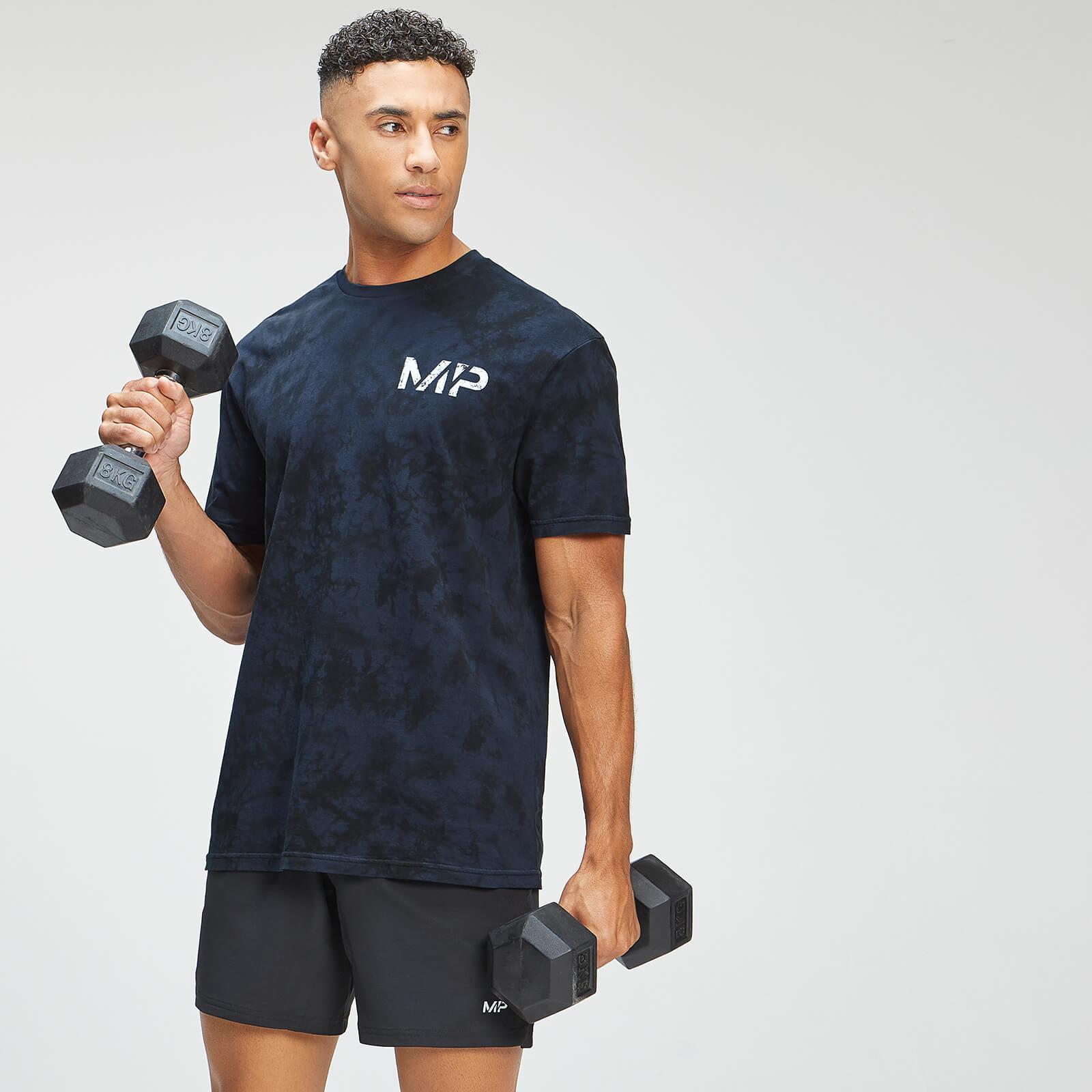 Купить MP Men's Adapt Tie Dye Short Sleeve Oversized T-Shirt - Petrol Blue/Black - XXS, Myprotein International