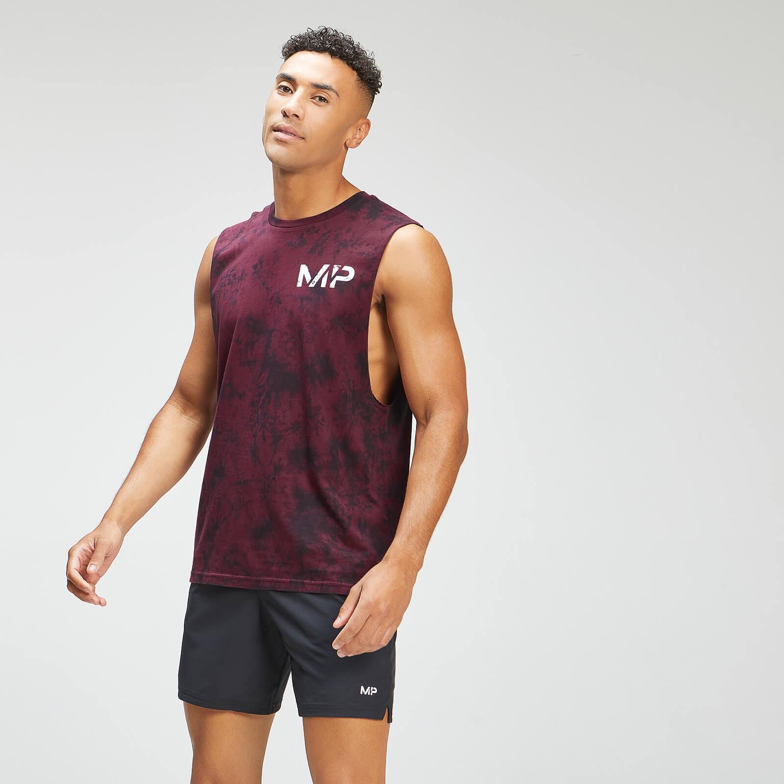 MP Men's Adapt Tie Dye Tank Top - Black/Merlot - S, Myprotein International  - купить со скидкой