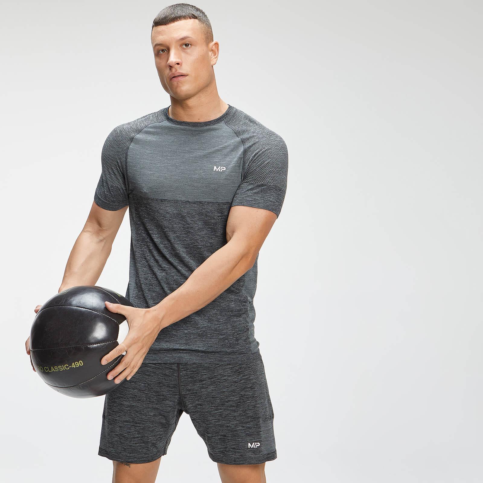 Купить MP Men's Essential Seamless Short Sleeve T-Shirt - Dark Grey Marl - XS, Myprotein International